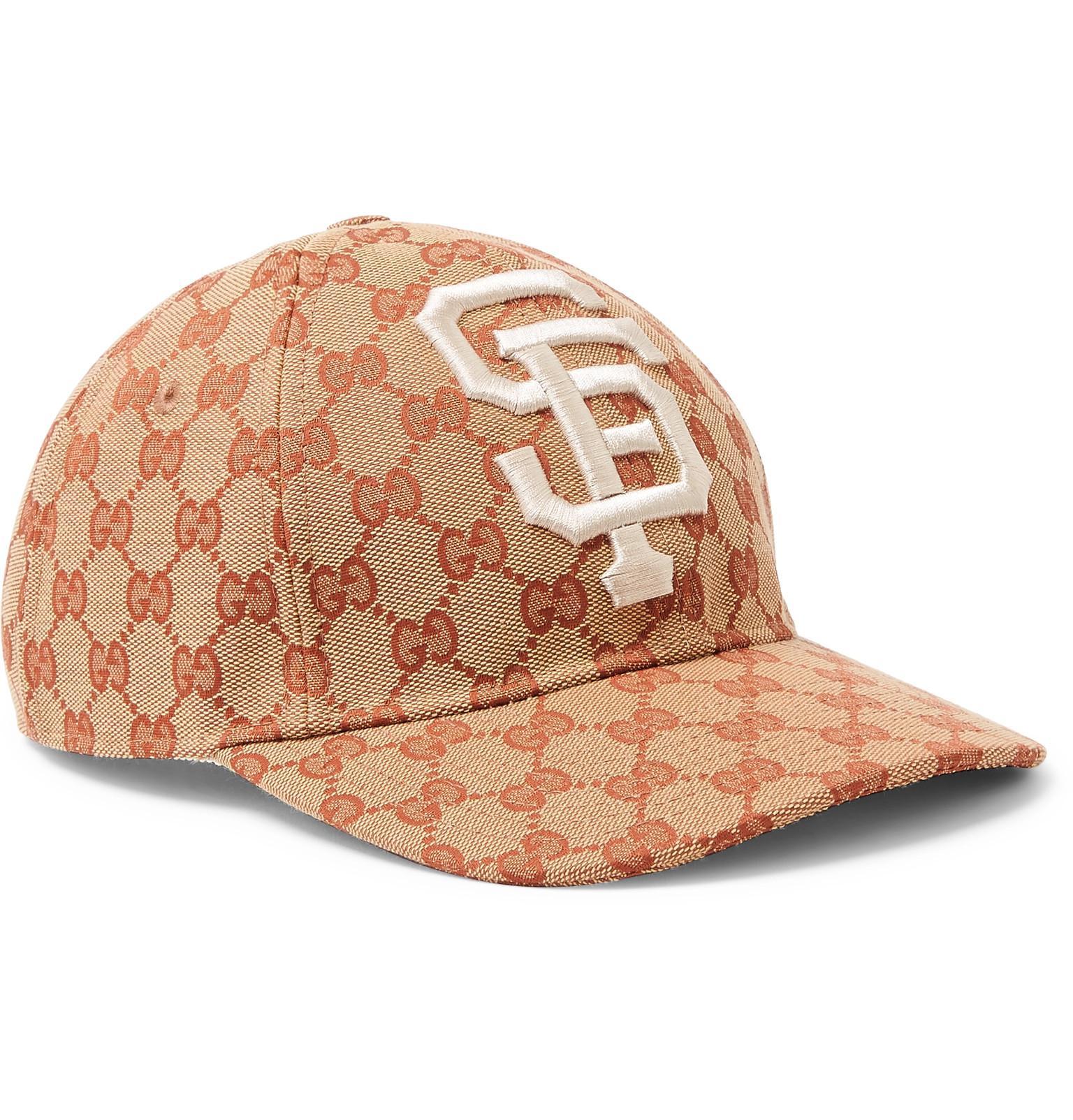 8b67c88b69f40 Gucci + San Francisco Giants Appliquéd Logo-print Coated-canvas Cap ...