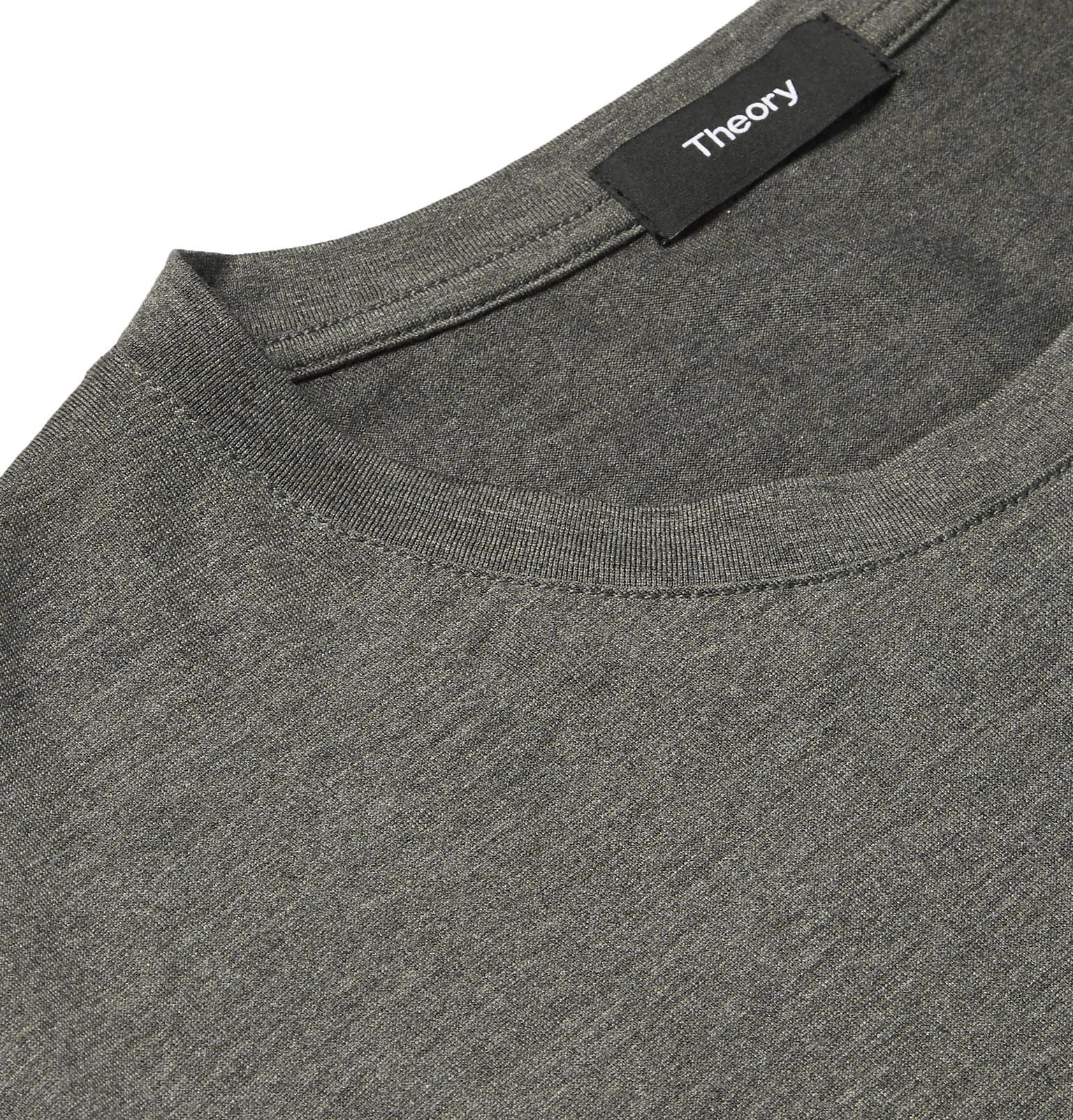 sale retailer 2ad12 710a3 theory-dark-gray-Claey-Slim-fit-Melange-Silk-And-Cotton-blend-Jersey-T-shirt.jpeg