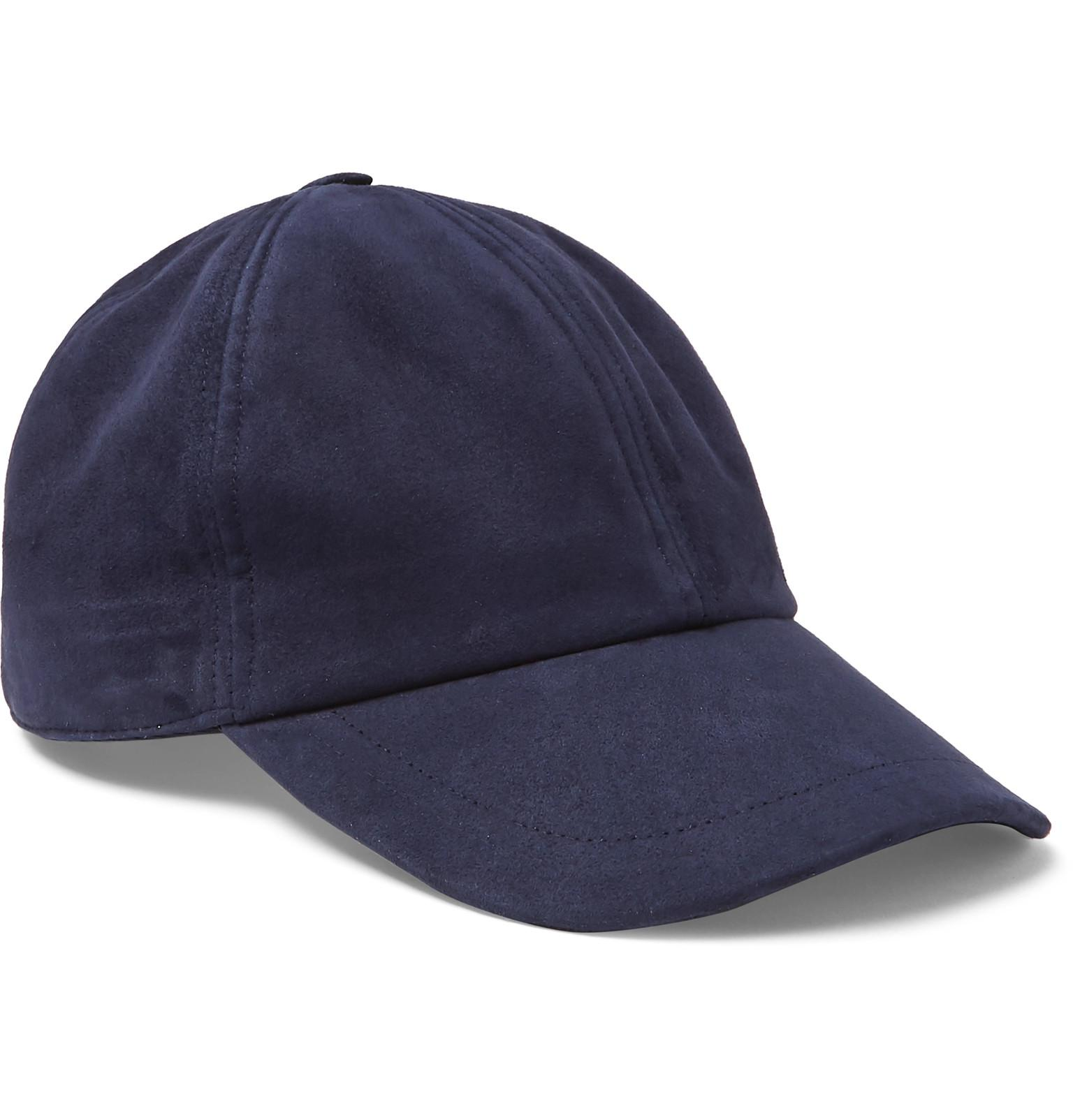 Brioni. Men s Blue Nubuck Baseball Cap.  580 From MR PORTER 63430153820