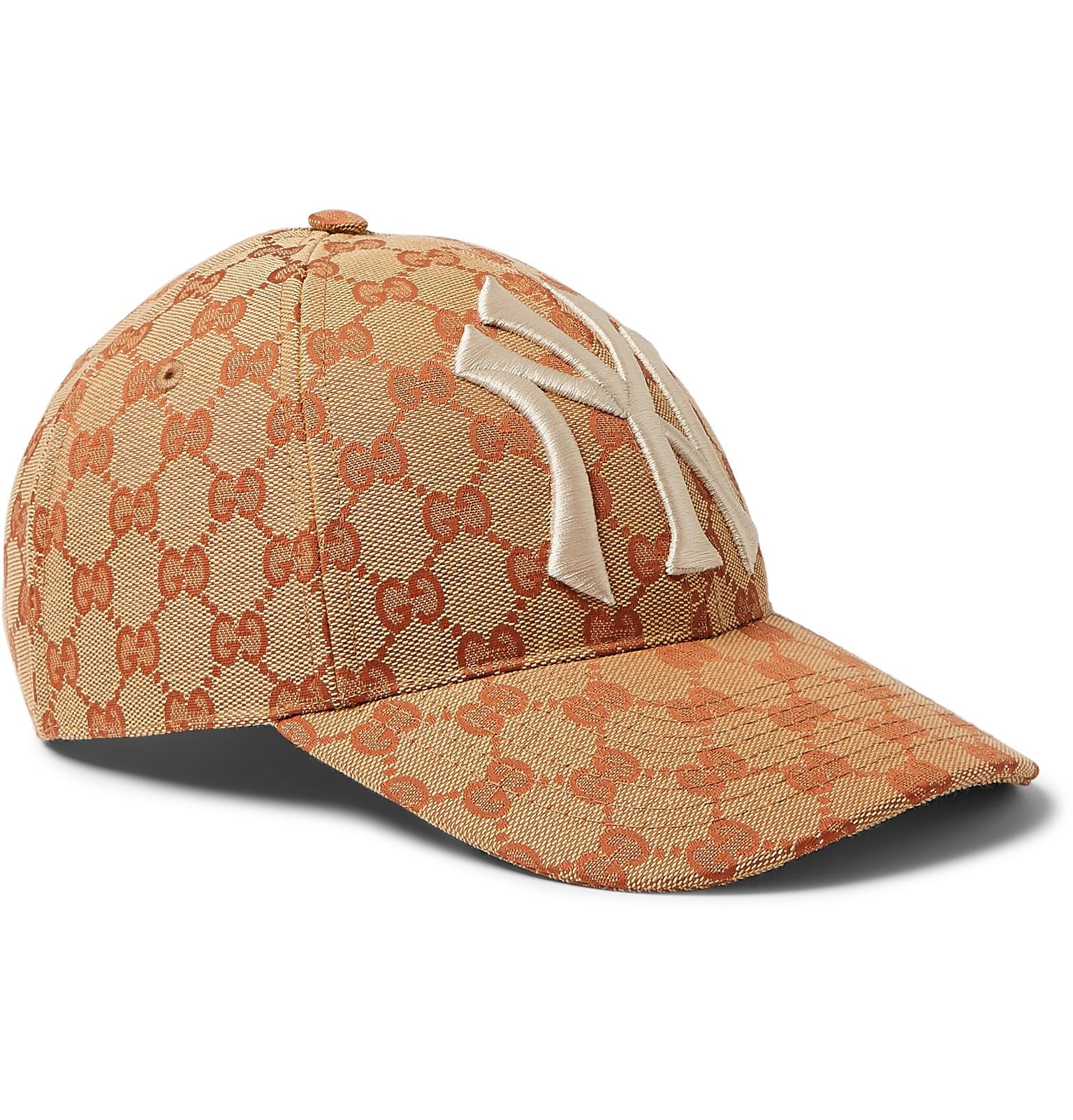 2f981f10f0b Gucci Ny Yankeestm Patch Baseball Hat in Brown for Men - Lyst