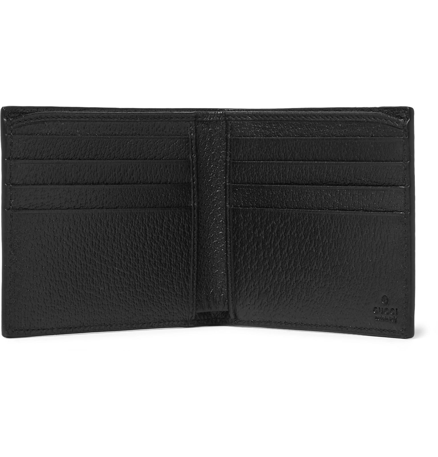 f47284d624d Gucci Marmont Full-grain Leather Billfold Wallet in Black for Men ...