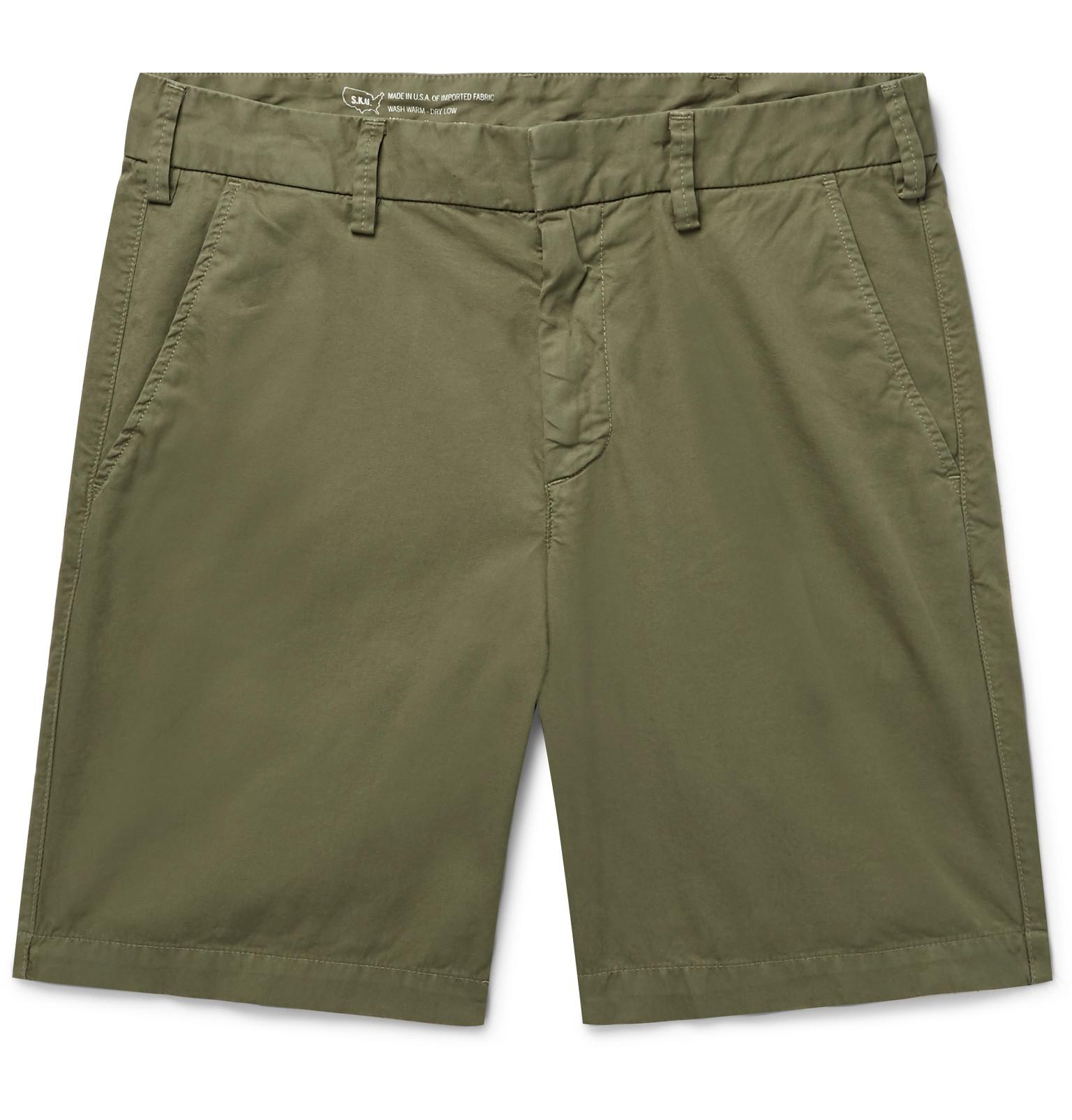Outlet Huge Surprise Comfortable Slim-fit Cotton-twill Bermuda Shorts SAVE KHAKI UNITED Clearance Get Authentic xb0w7DBy