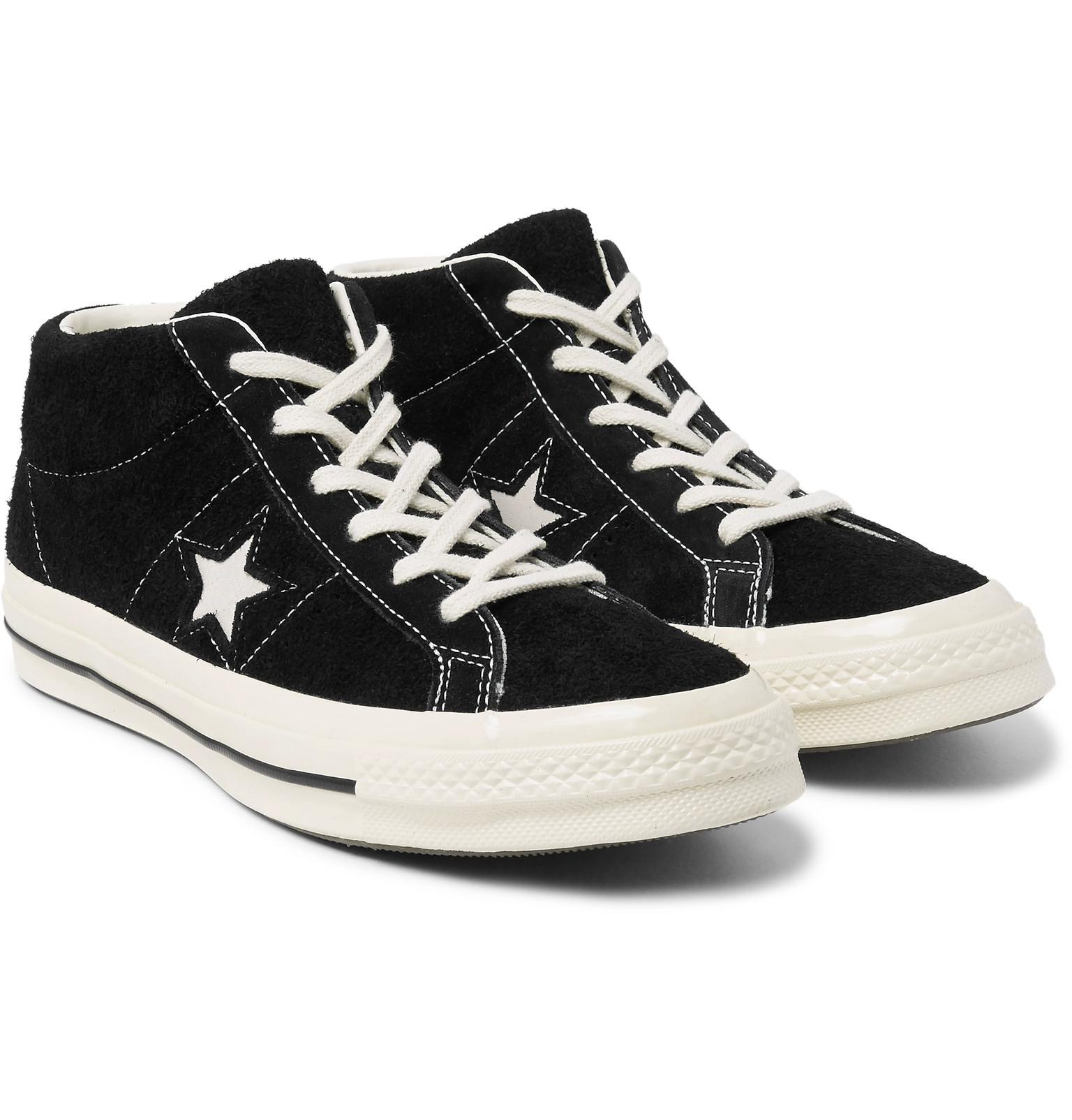 bbd2d3b1b45cd7 Converse One Star  74 Vintage Suede Sneakers in Black for Men - Lyst
