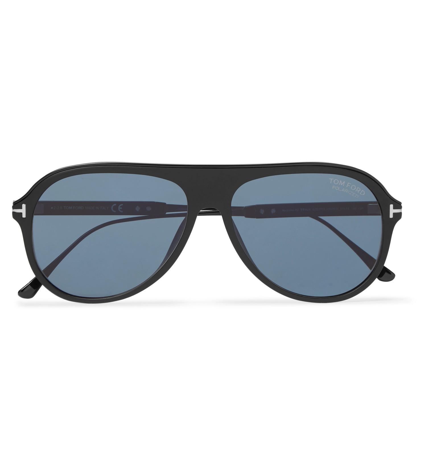 2aec625fe33 Tom Ford. Men s Black Nicholai Aviator-style Acetate Polarised Sunglasses