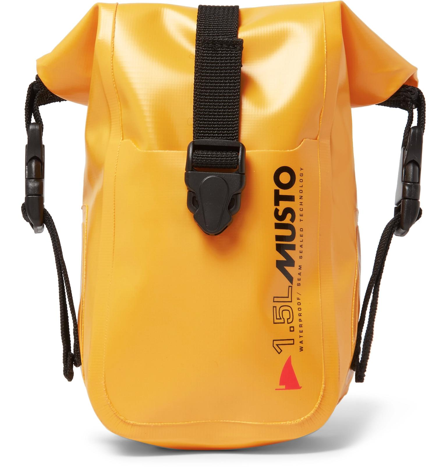 Lyst - Musto Sailing 1.5l Waterproof Dry Pack in Yellow for Men 75b313b6a01f9