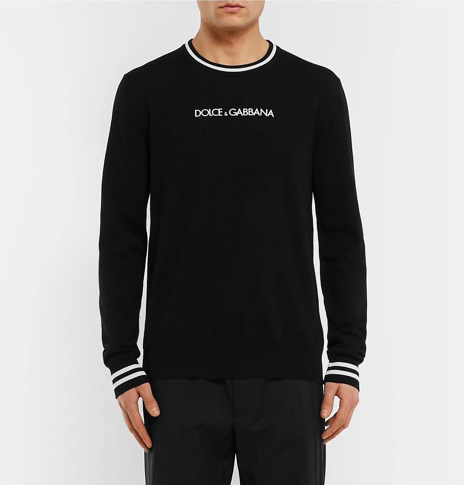 356d9b8b6 Lyst - Dolce   Gabbana Slim-fit Contrast-tipped Logo-embroidered ...