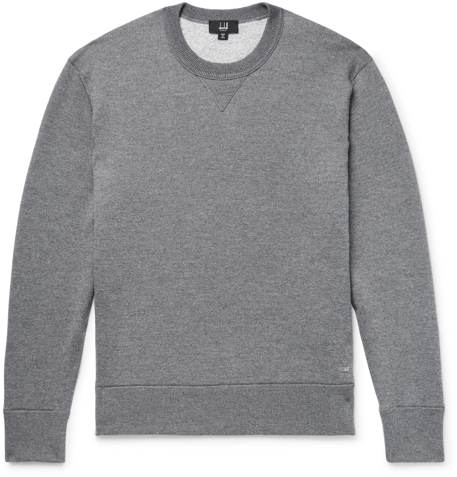 And Wool Men's Blend Cashmere Gray Loopback Dunhill Sweatshirt Uw7vOq