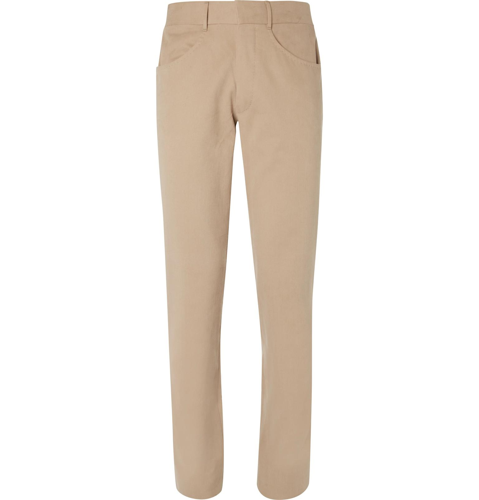 Brushed-cotton Twill Trousers Anderson & Sheppard Amazon Sale Online SZ3on4abs