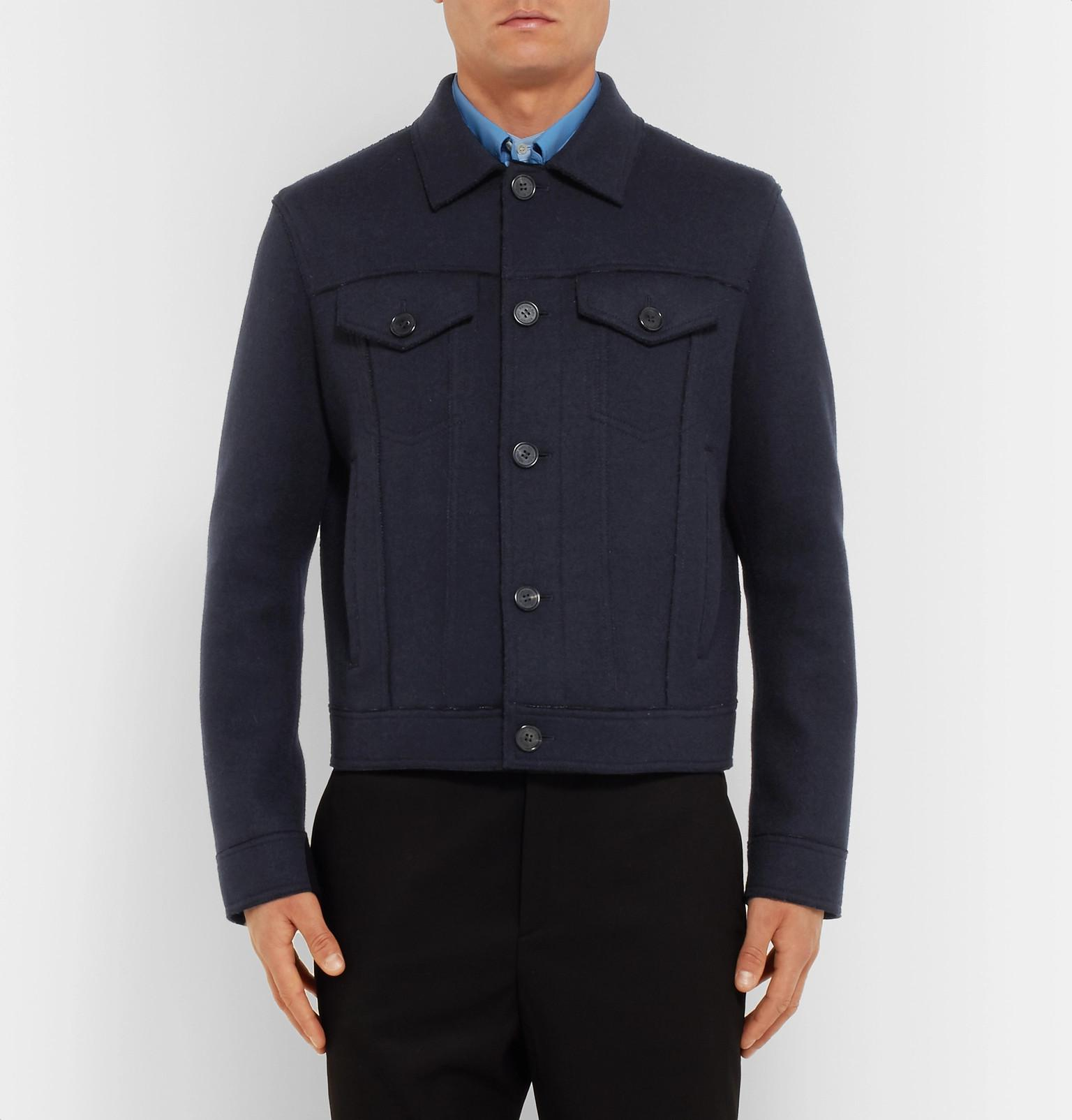 online store 0b6b0 efc5f neil-barrett-navy-Wool-blend-Trucker-Jacket.jpeg