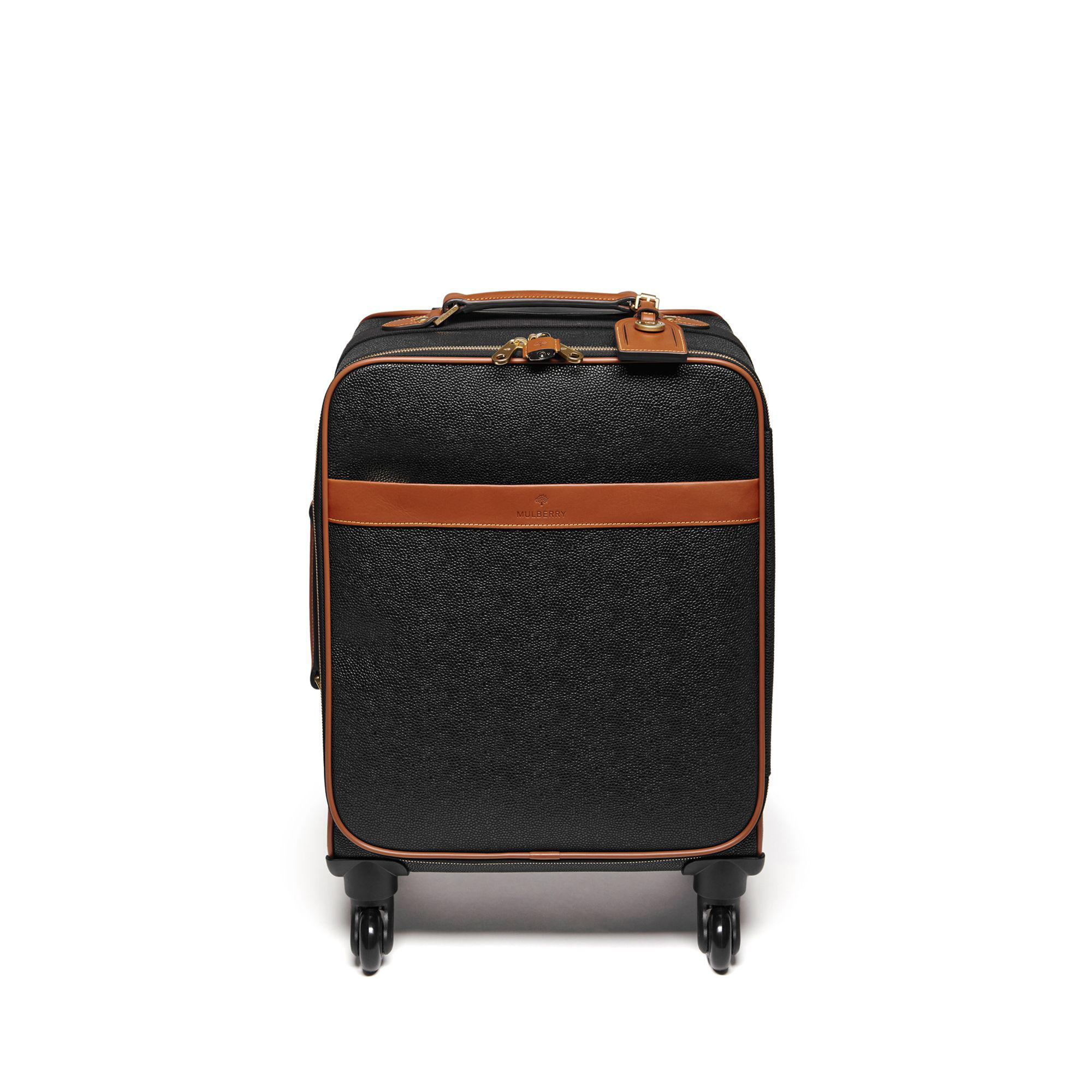 590ca51063e Mulberry - Four Wheel Trolley In Black And Cognac Scotchgrain - Lyst. View  fullscreen