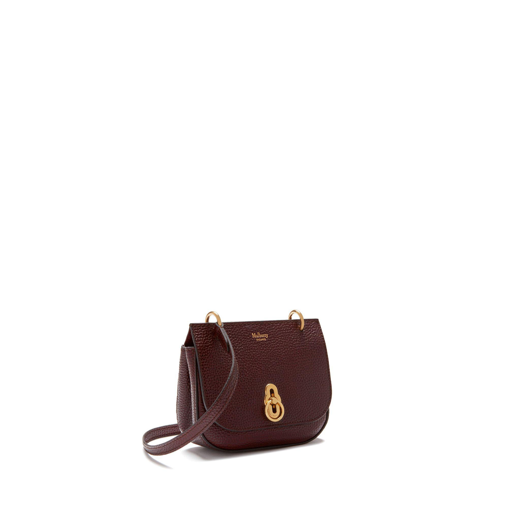 fbbf0799bb7 Mulberry Mini Amberley Satchel In Oxblood Natural Grain Leather - Lyst