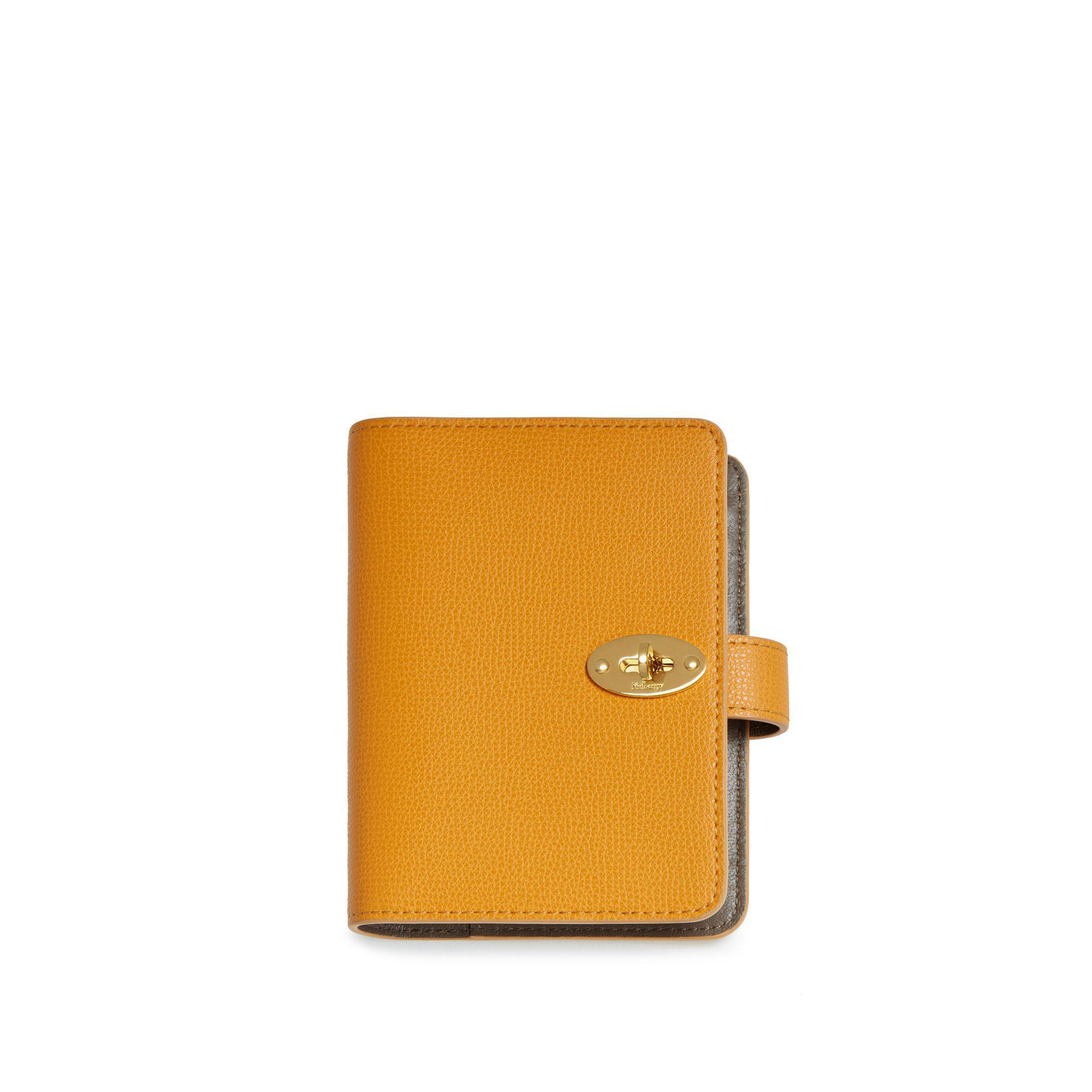 1fa7ded861d Mulberry. Women's Orange Postman's Lock Pocket Book In Deep Amber Cross  Grain Leather