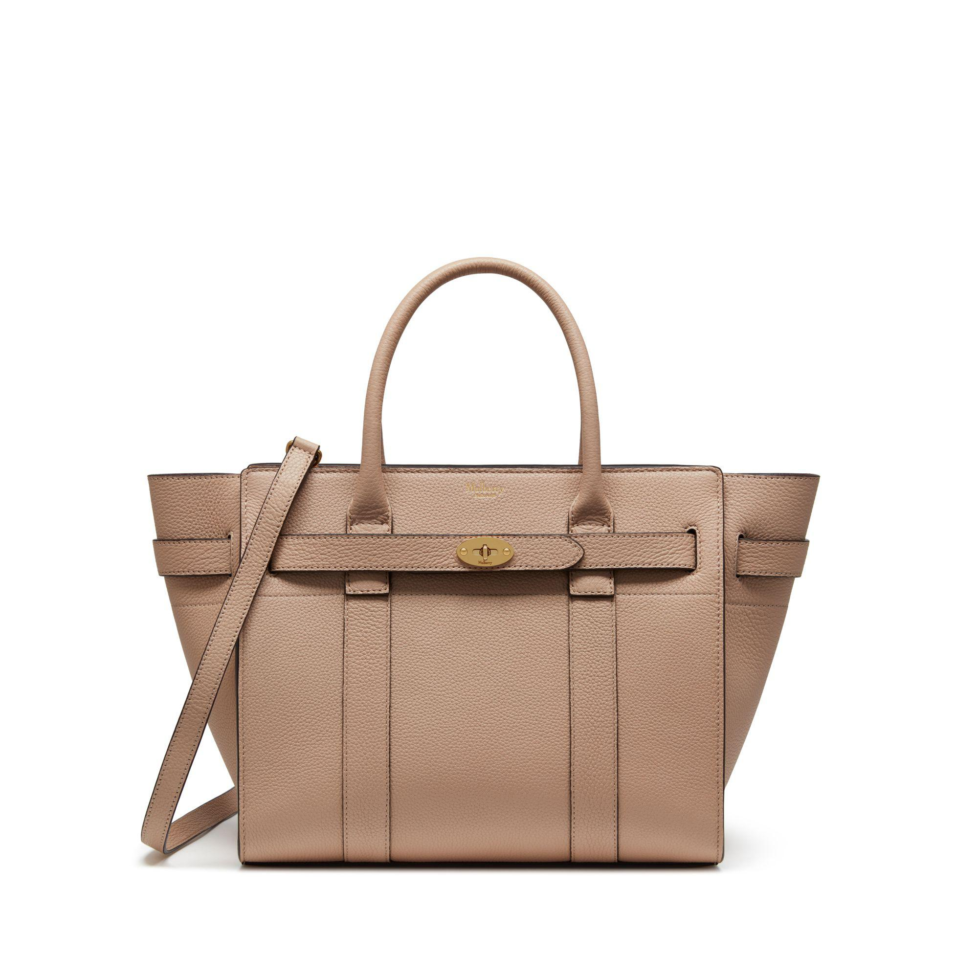b6cdec682c Lyst - Mulberry Small Zipped Bayswater In Rosewater Small Classic ...