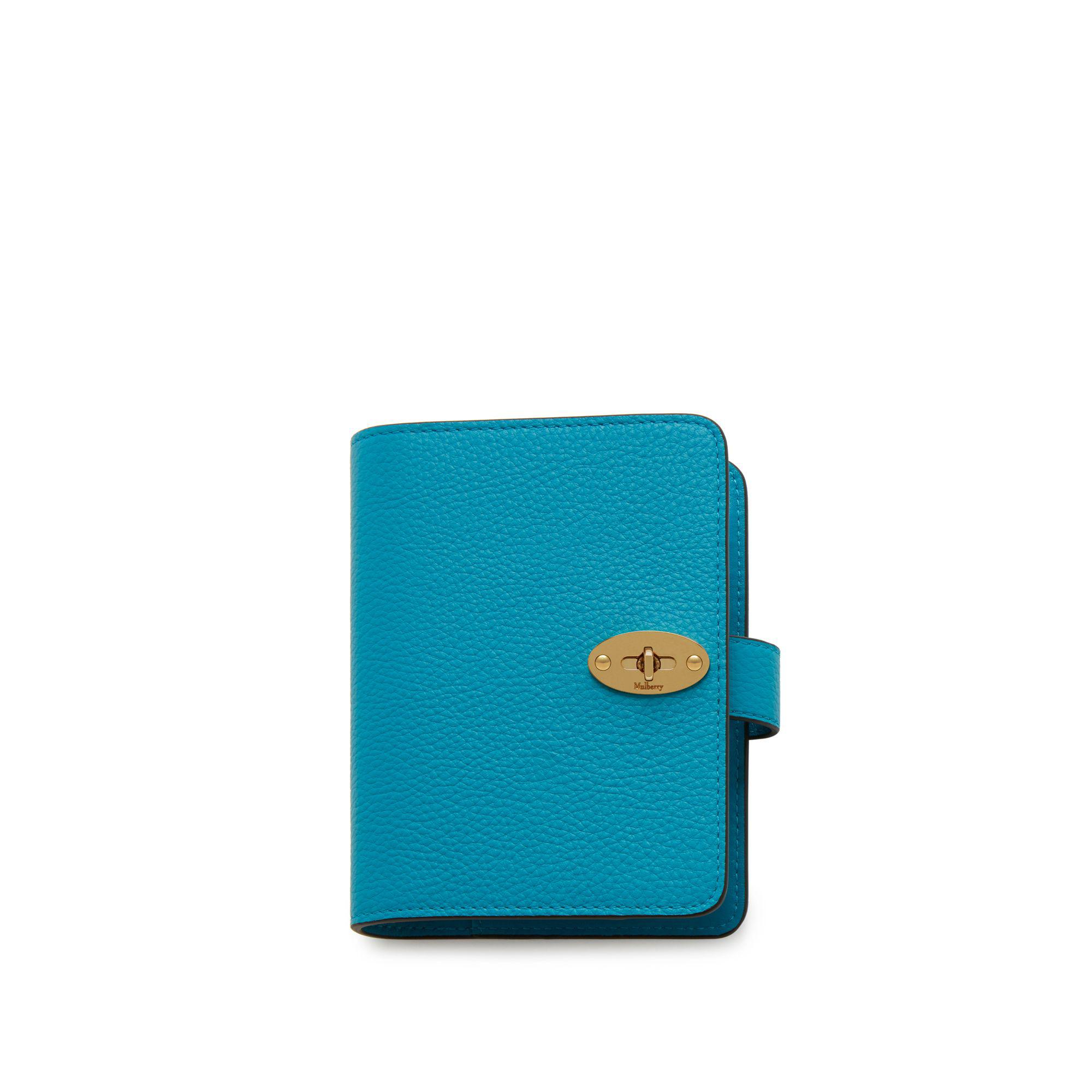 Mulberry Postman s Lock Pocket Book In Azure Small Classic Grain in ... 4401bbbcef