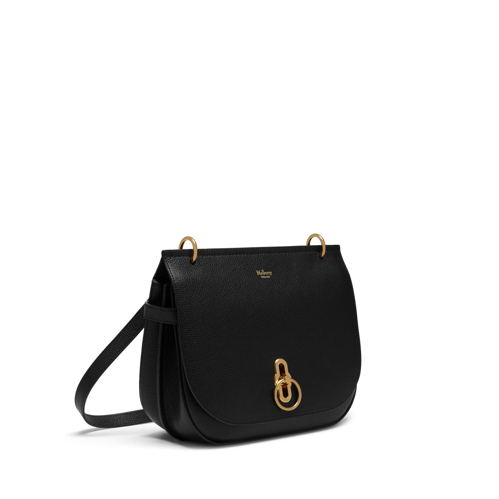 Mulberry - Amberley Satchel In Black Small Classic Grain - Lyst. View  fullscreen 8011c24dcd3d2