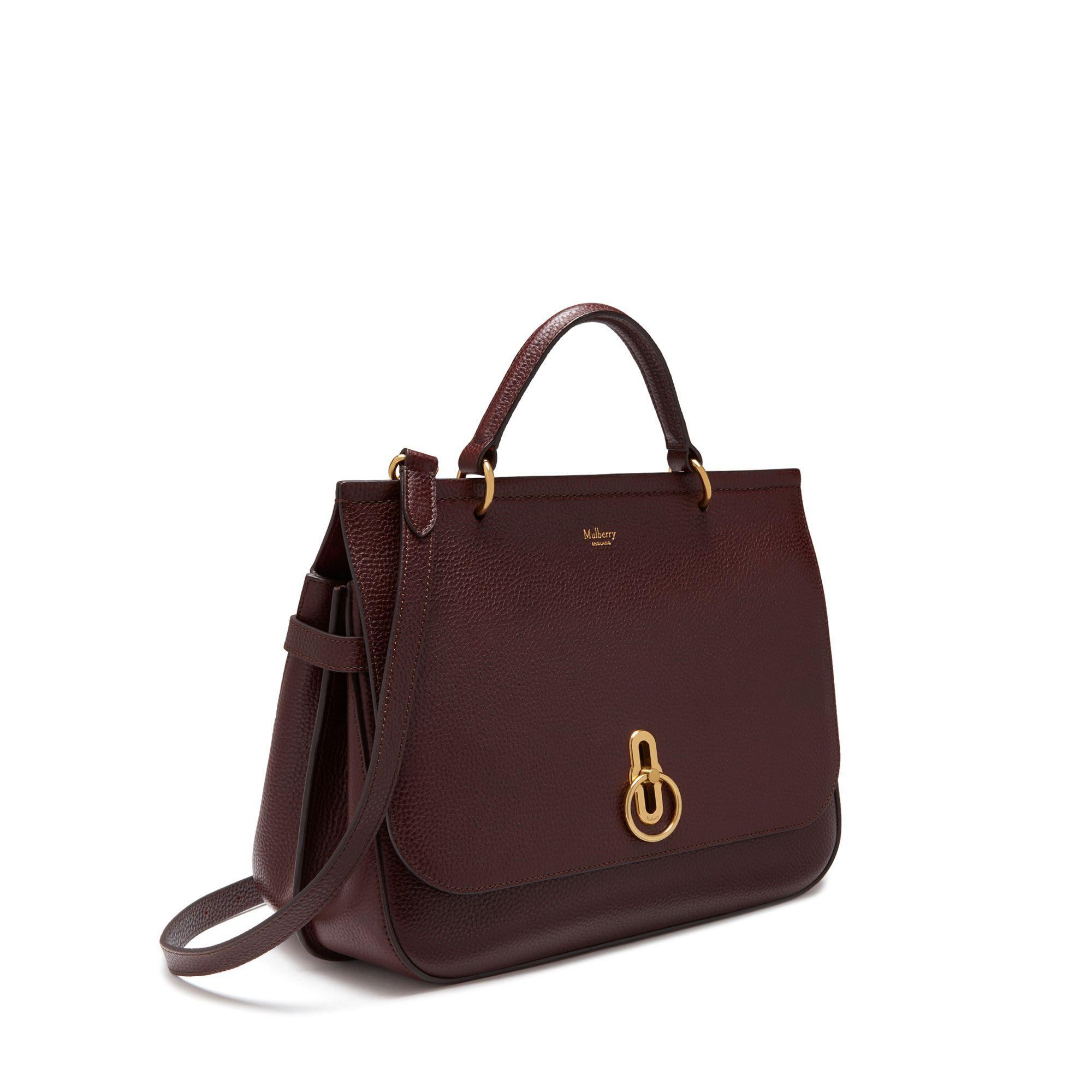 410a19a80c Mulberry - Multicolor Amberley In Oxblood Natural Grain Leather - Lyst.  View fullscreen