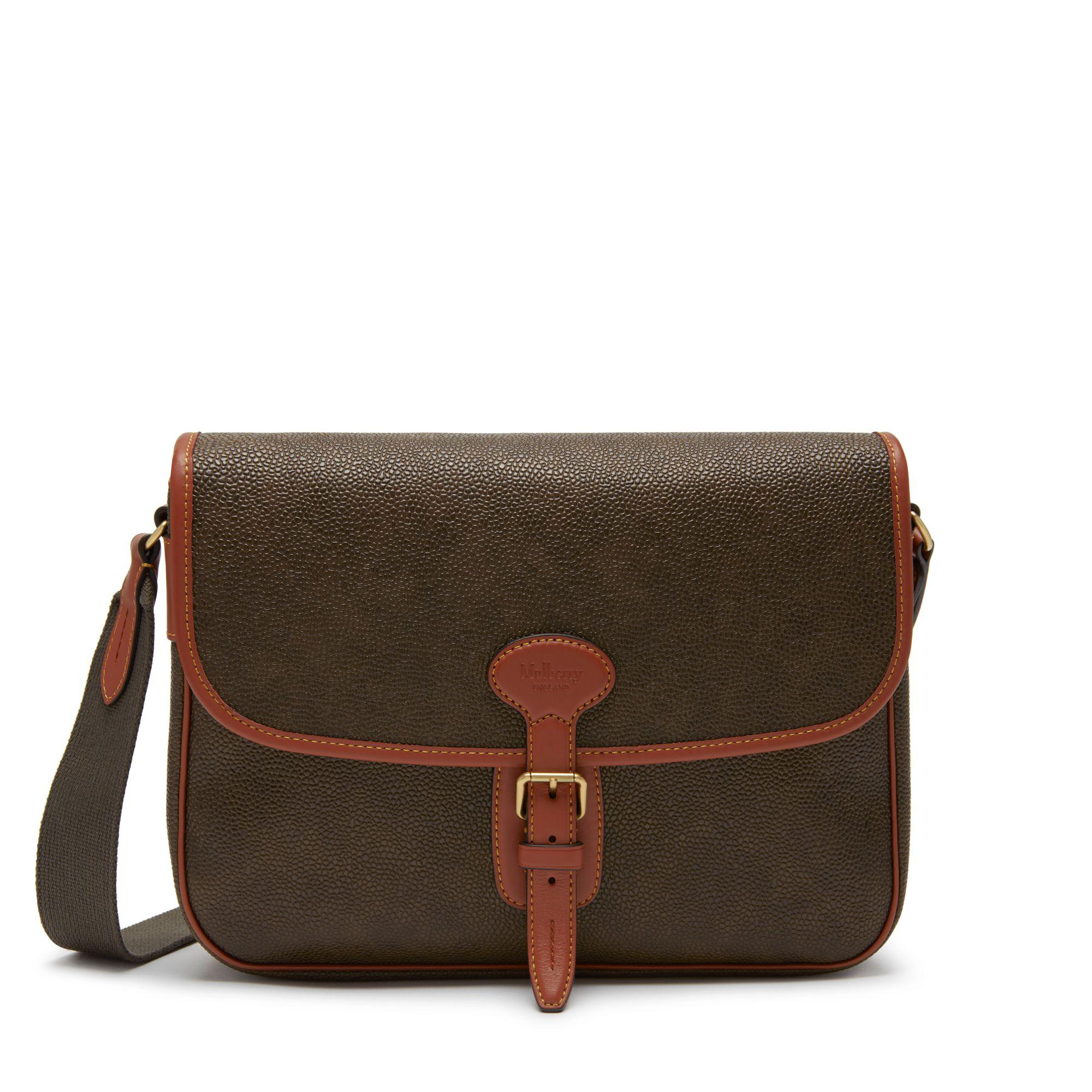 61b3eefd539c Lyst - Mulberry Small Heritage Messenger In Mole And Cognac ...