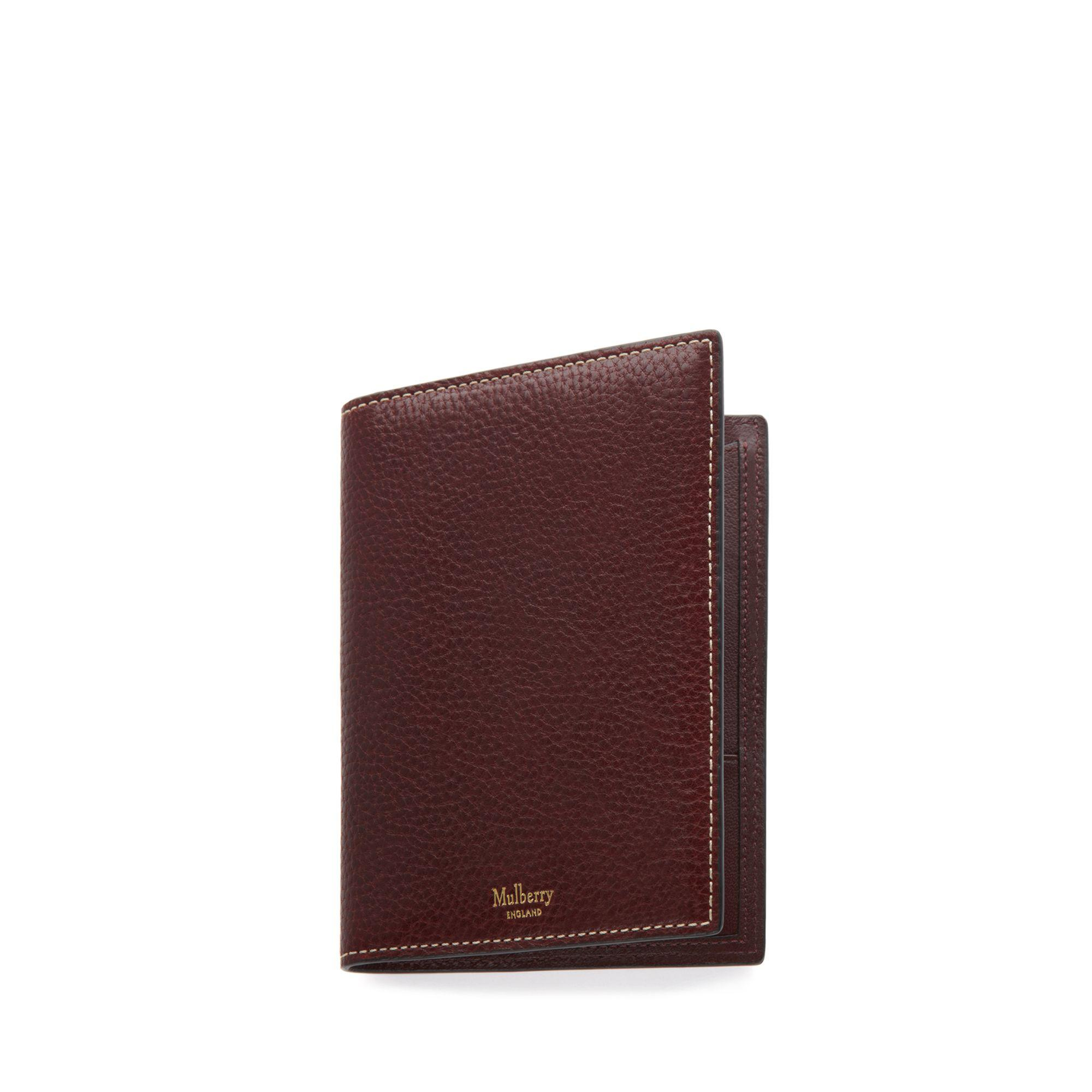 7787563a0418 Mulberry - Multicolor Passport Cover Wallet In Oxblood Natural Grain Leather  for Men - Lyst. View fullscreen