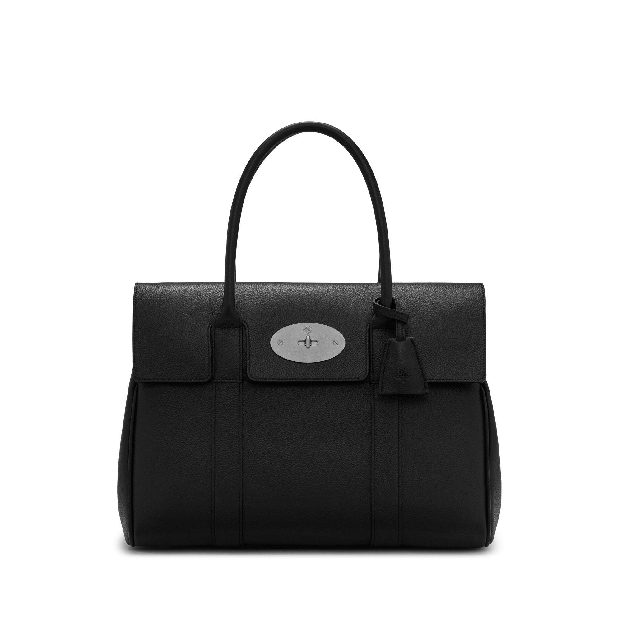 Lyst - Mulberry Heritage Bayswater In Black Small Classic Grain With ... 2053fdcb6c03f
