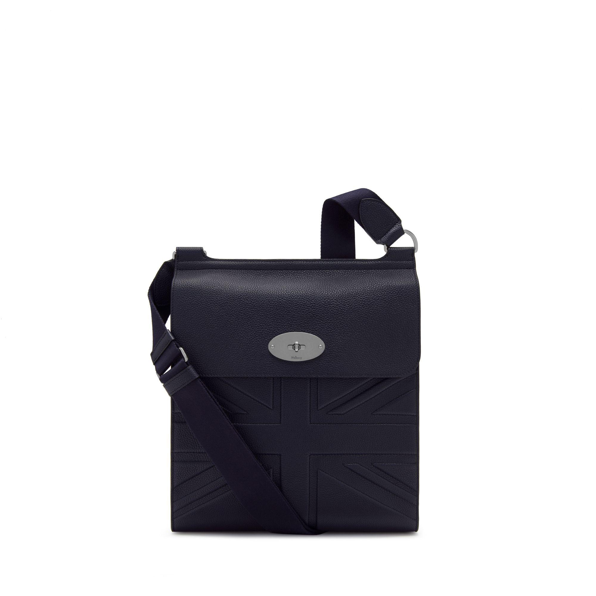 25042968a6f Mulberry New Antony Messenger In Midnight Small Classic Grain in ...