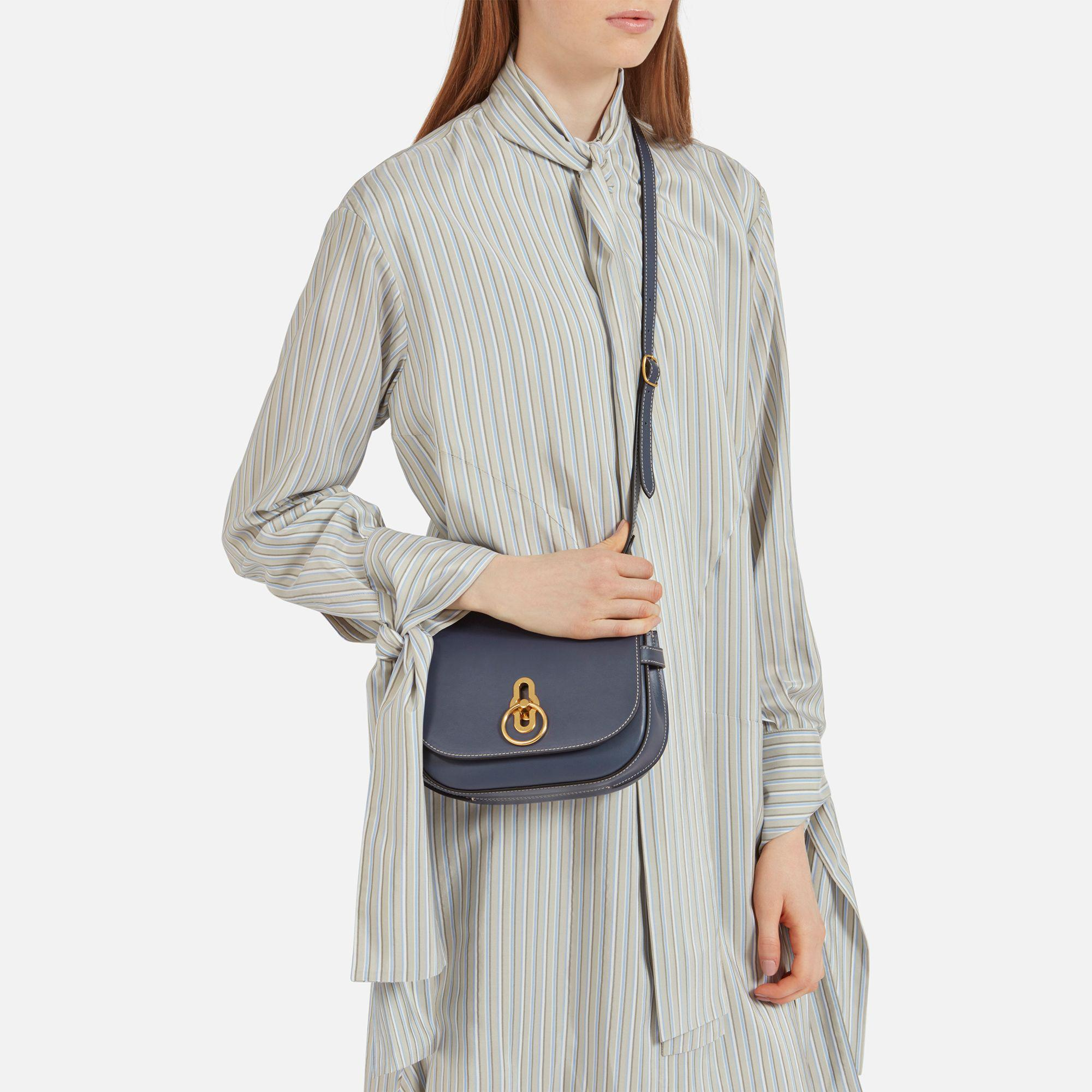 281bcd4c13 Lyst - Mulberry Small Amberley Satchel in Blue