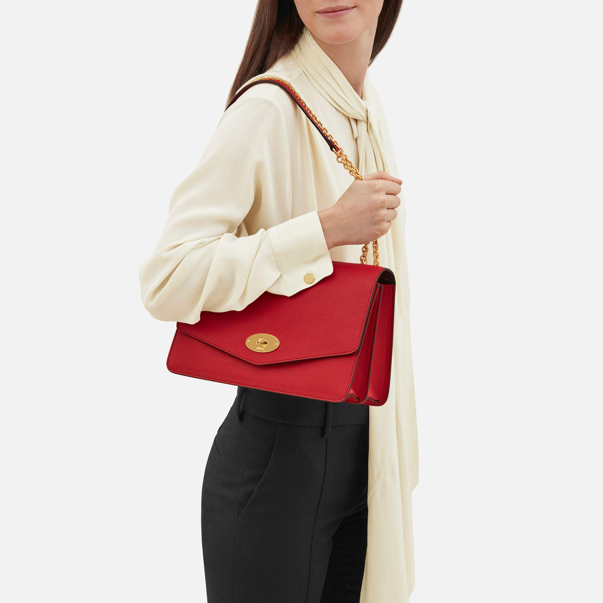 Mulberry Large Darley in Red - Lyst 0252b1eb16a44