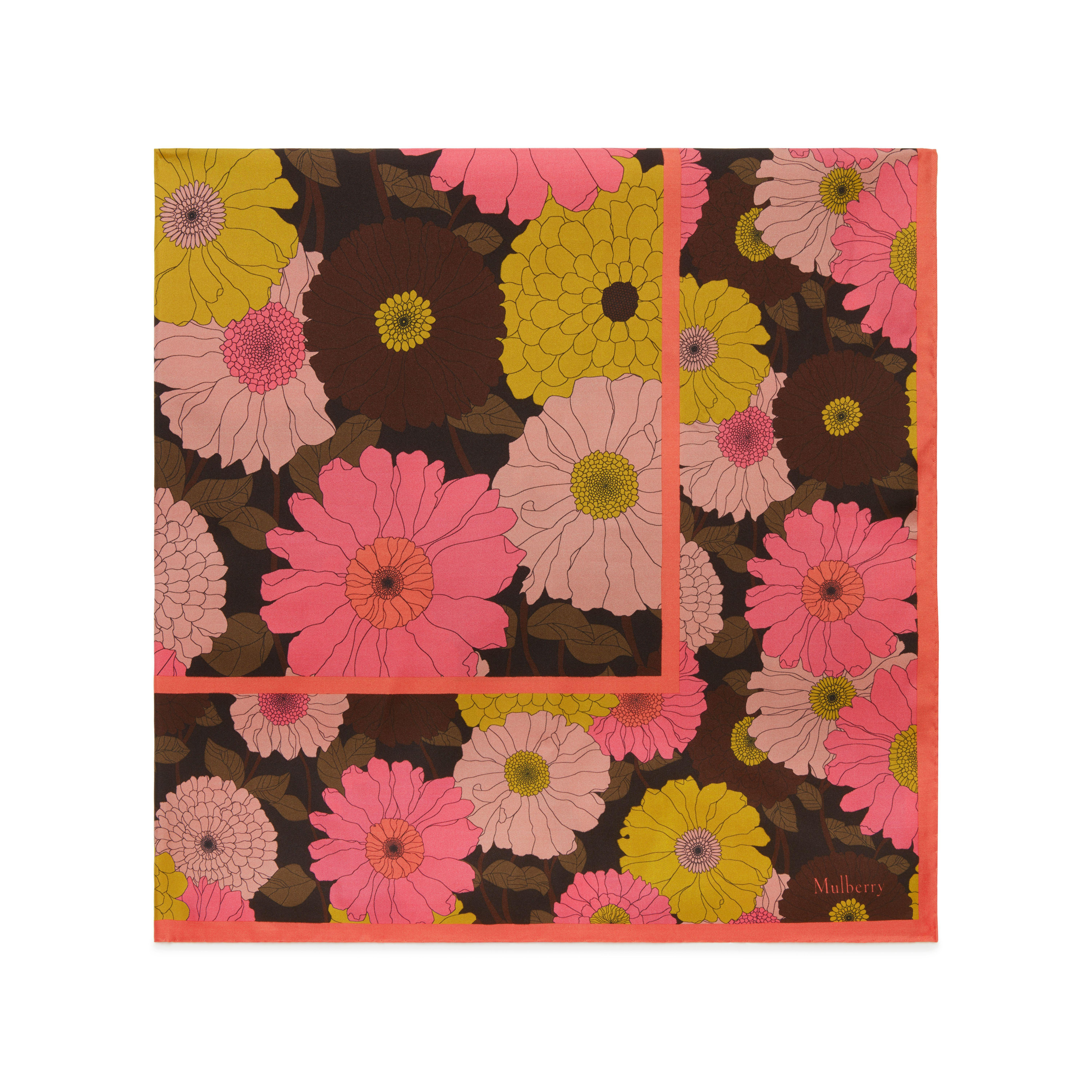 Mulberry Daisies Flower Double Square In Brown Lyst
