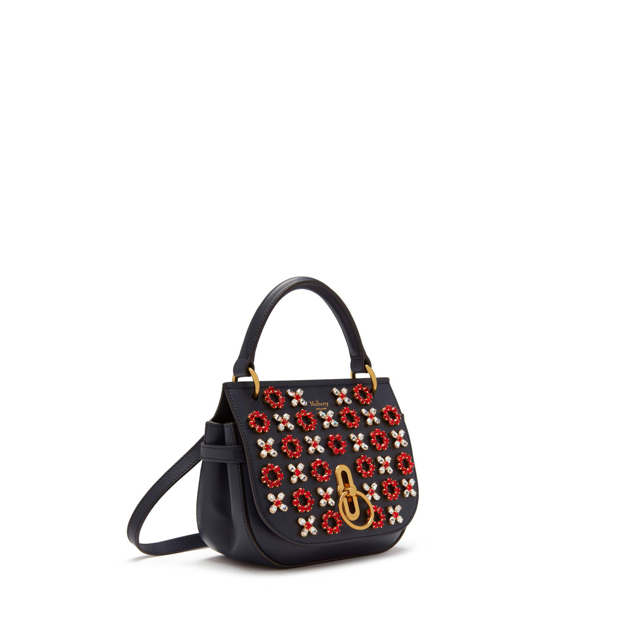 830efb7cd234 Mulberry Small Amberley Satchel In Midnight Geo Floral With Dots ...