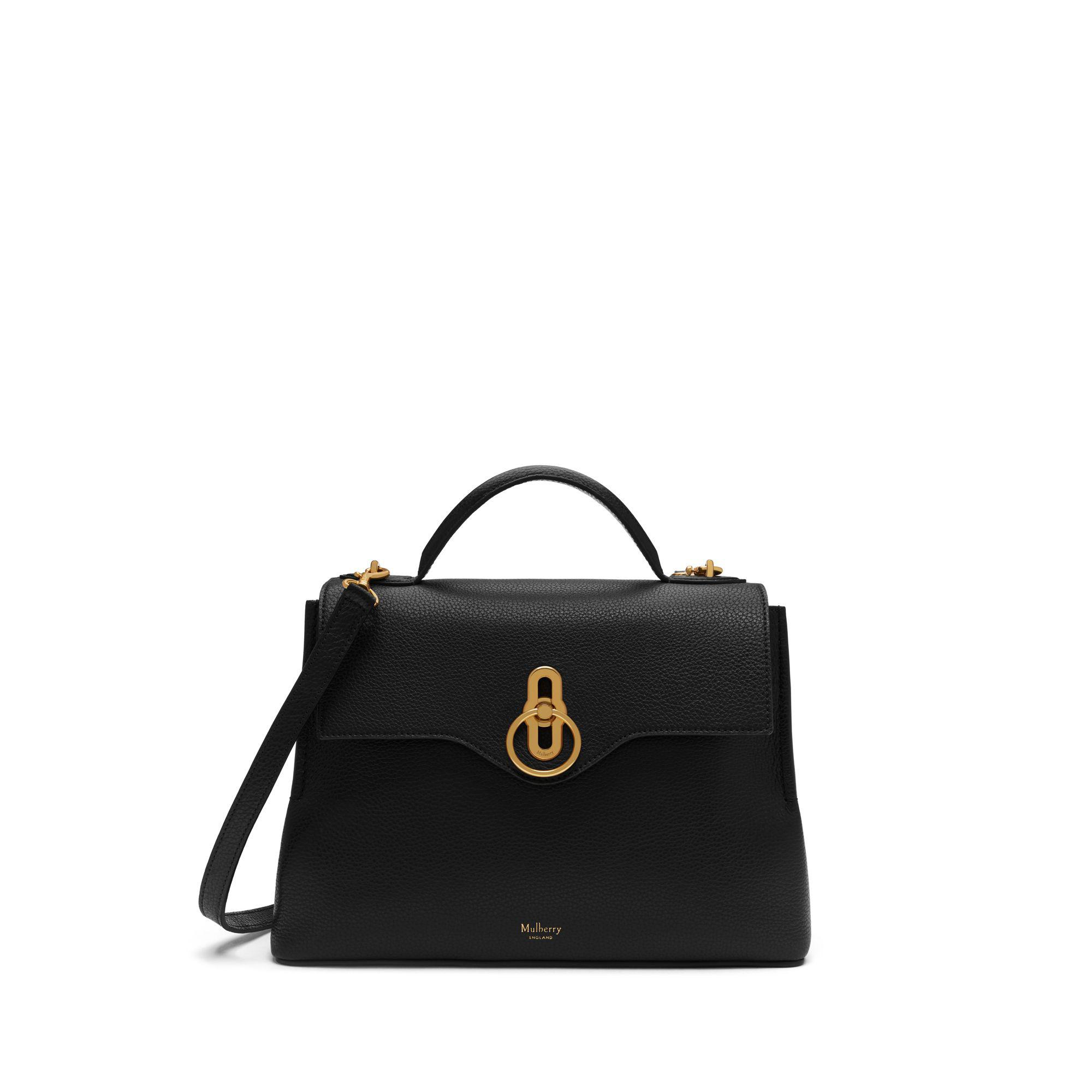 Mulberry - Small Seaton In Black Small Classic Grain - Lyst. View fullscreen 06da4e72e5f00