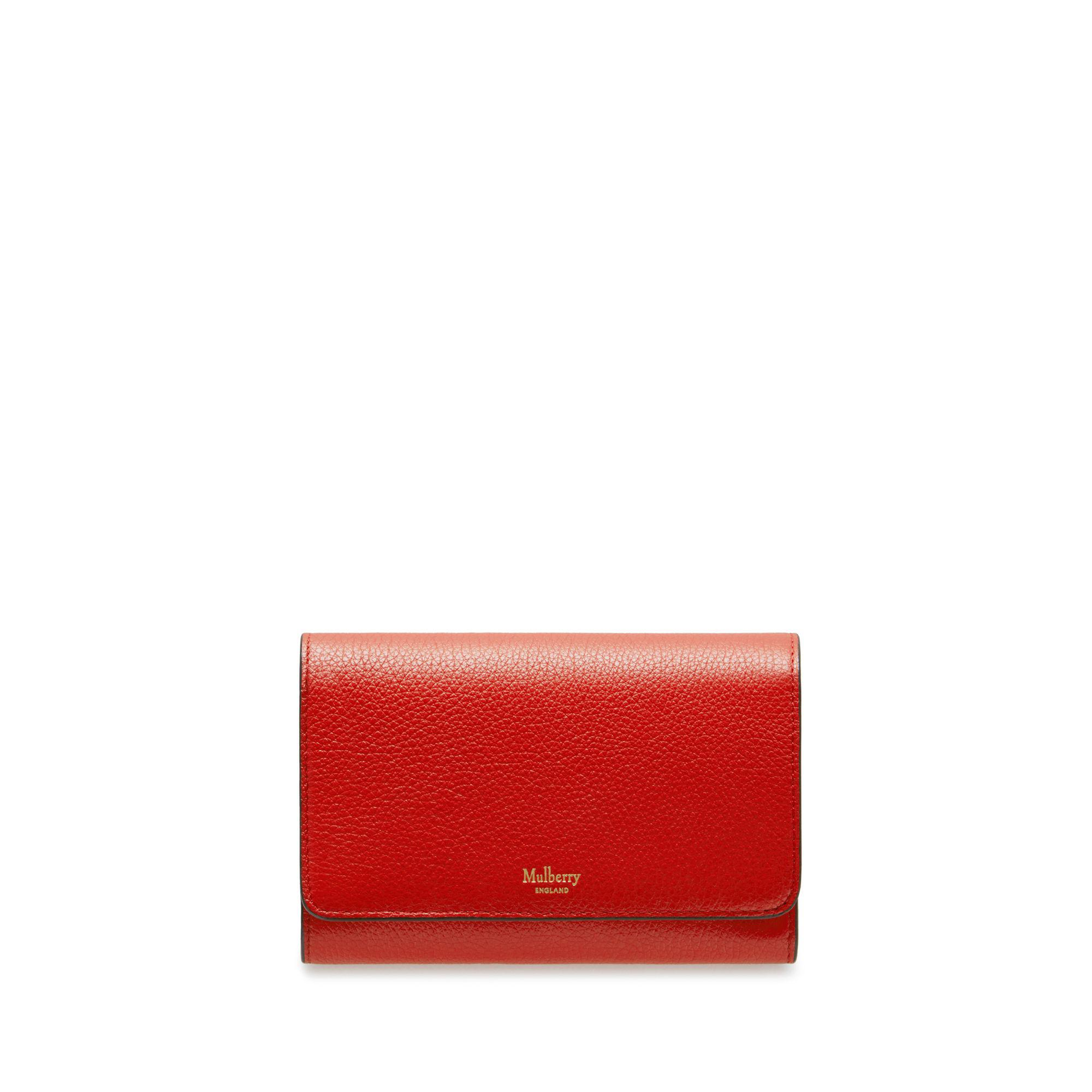 817a844e9a Women S Wallets Small Leather Goods Mulberry. Gallery. Lyst Mulberry Medium  Continental French Purse In Hibiscus Red