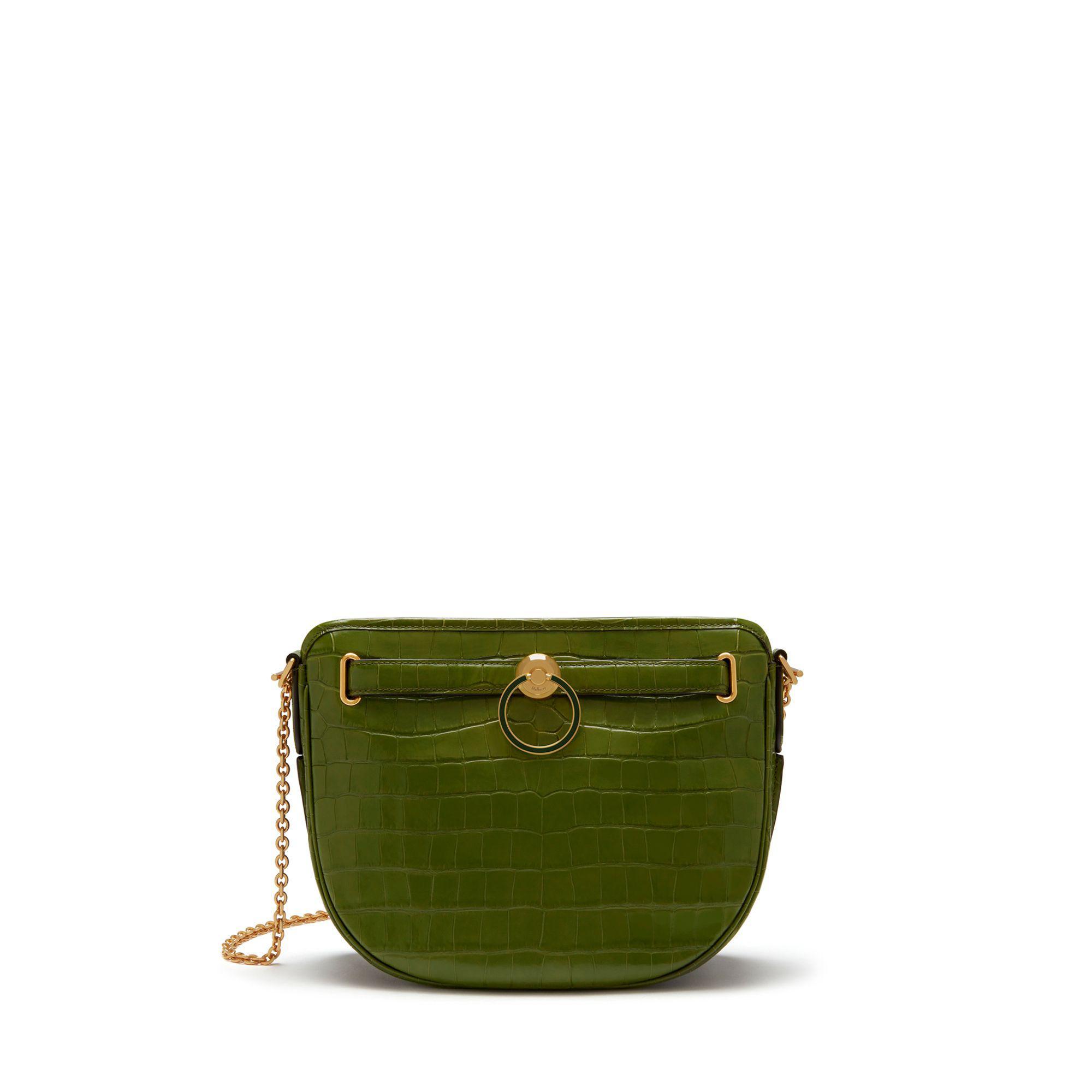 eb3b89e2f78b Lyst - Mulberry Brockwell In Dark Olive Croc Print in Green