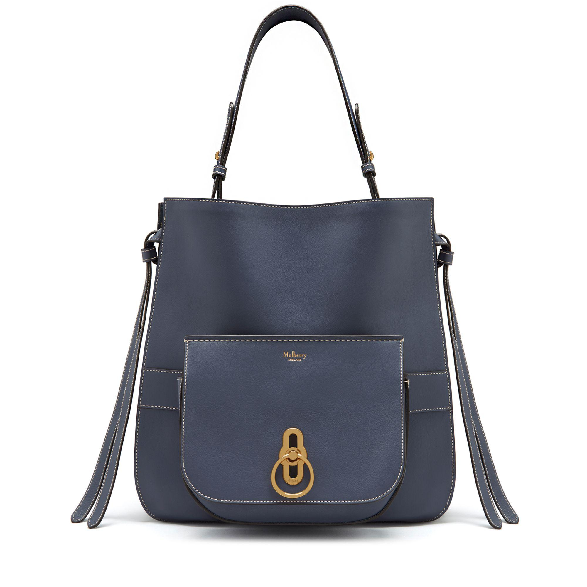 ffe7be60db6c Mulberry Amberley Hobo In Elephant Silky Calf in Blue - Lyst