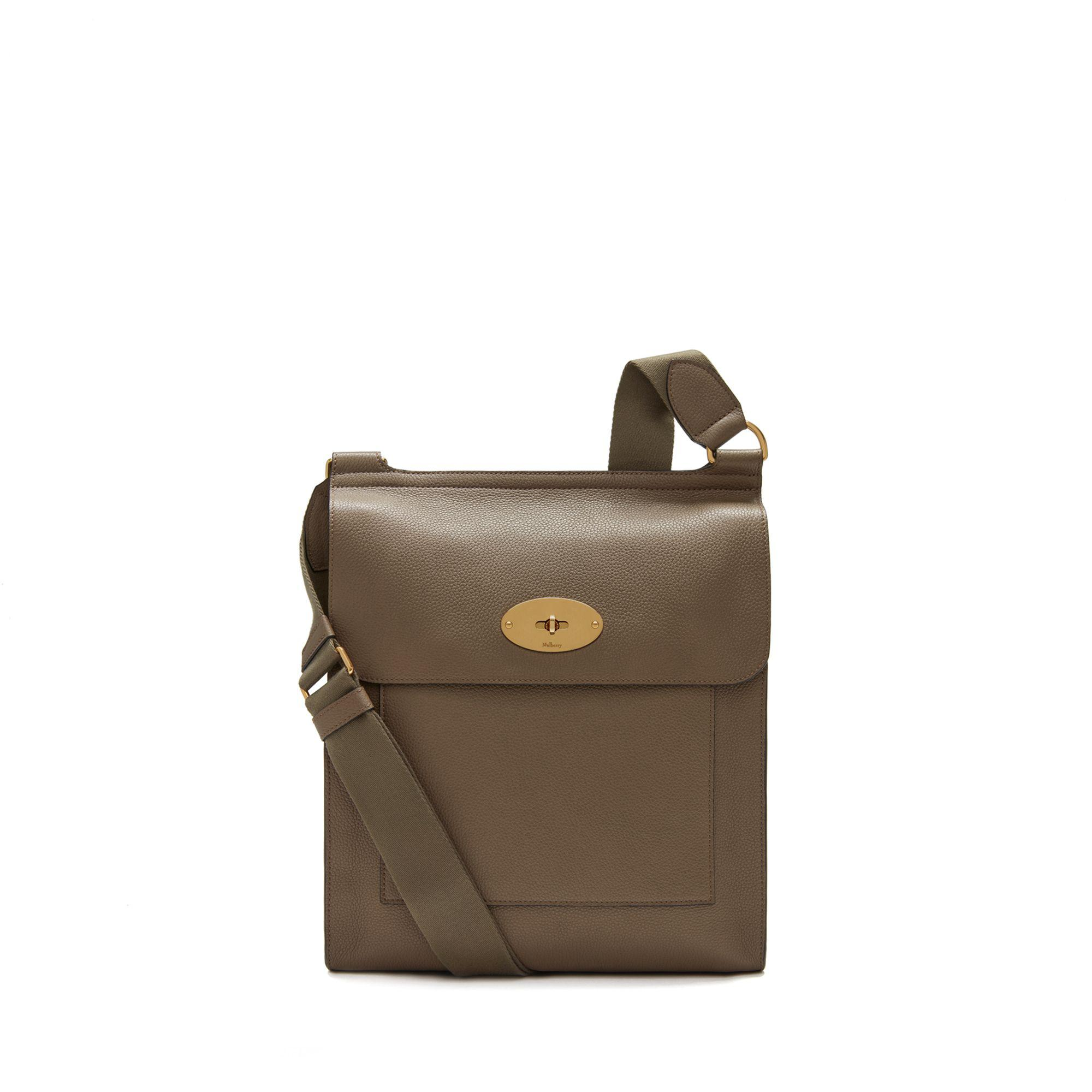 7752b04f56 Mulberry New Antony Messenger In Clay Small Classic Grain in Brown ...