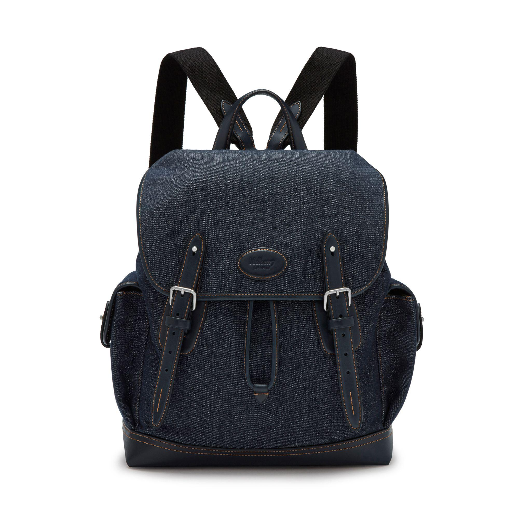 038c5673c5 Lyst - Mulberry Heritage Backpack In Blue Denim And Smooth Calf in ...