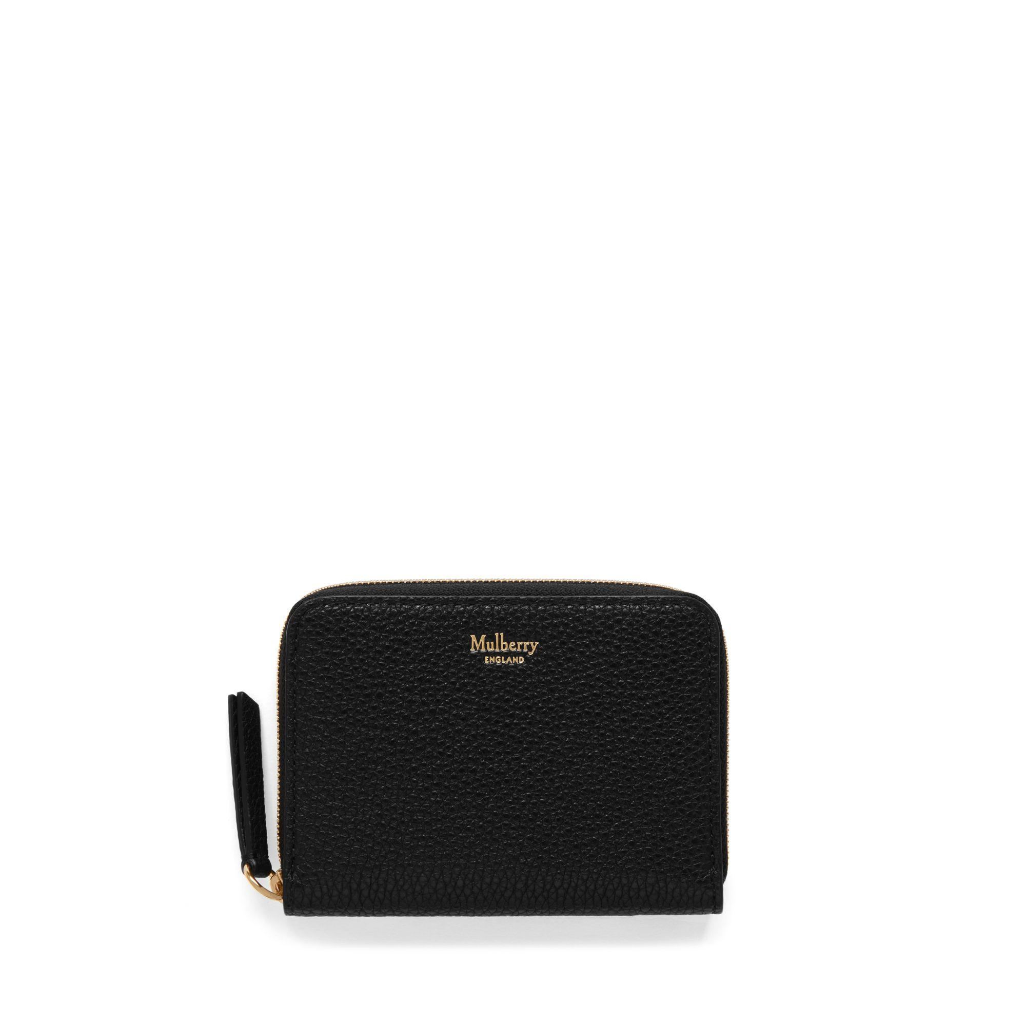 972f01a1ef Mulberry - Small Zip Around Purse In Black Small Classic Grain - Lyst. View  fullscreen