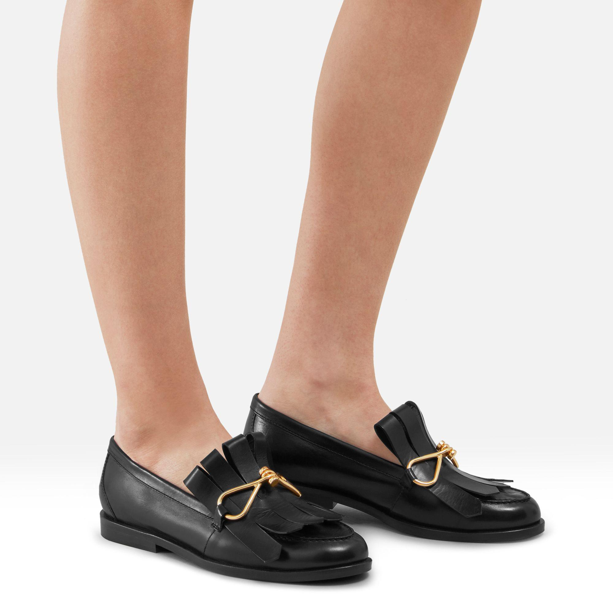 MULBERRY 20MM FRINGED LEATHER LOAFERS lCxPiOR