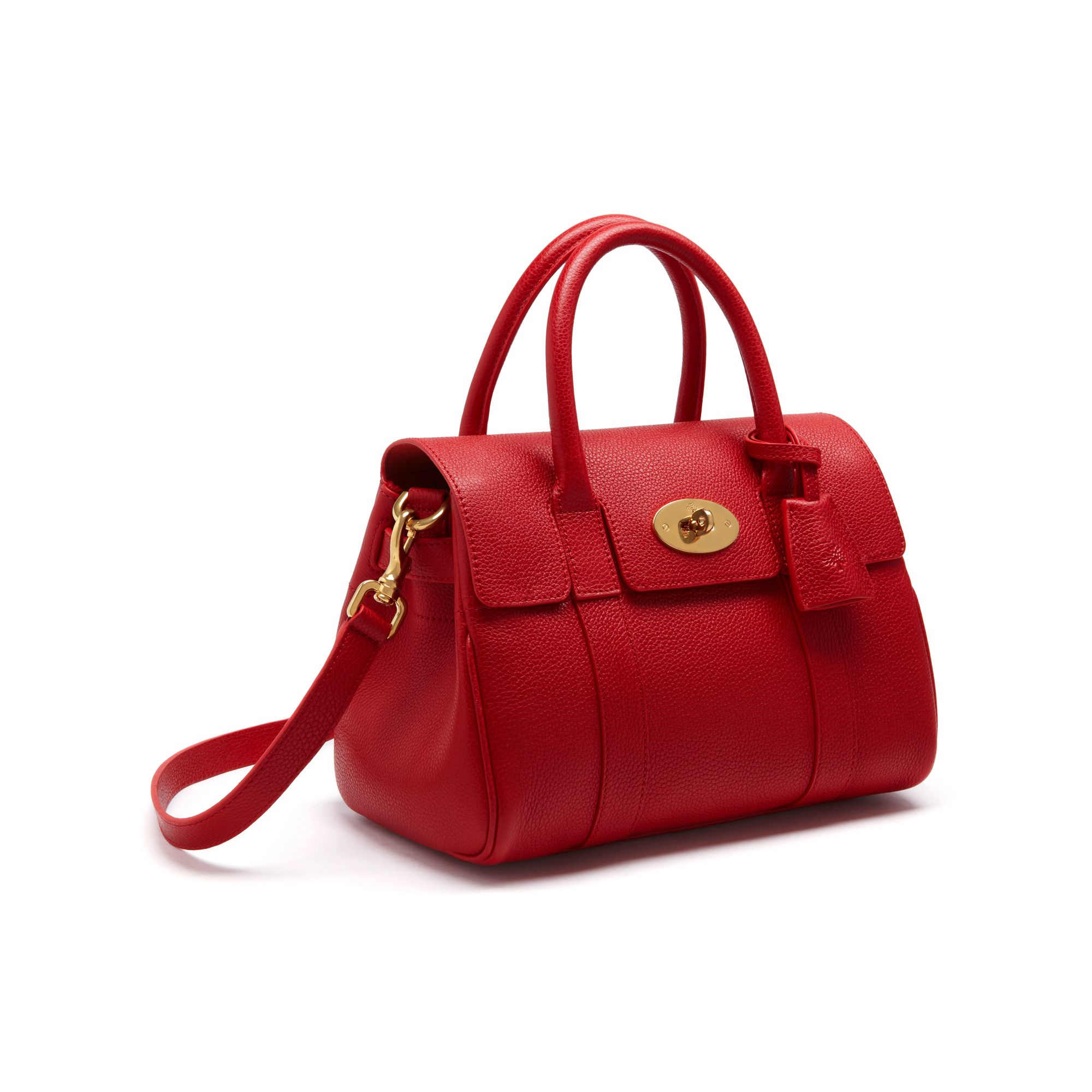 87c9fb8ee6b Lyst - Mulberry Small Bayswater Satchel in Red