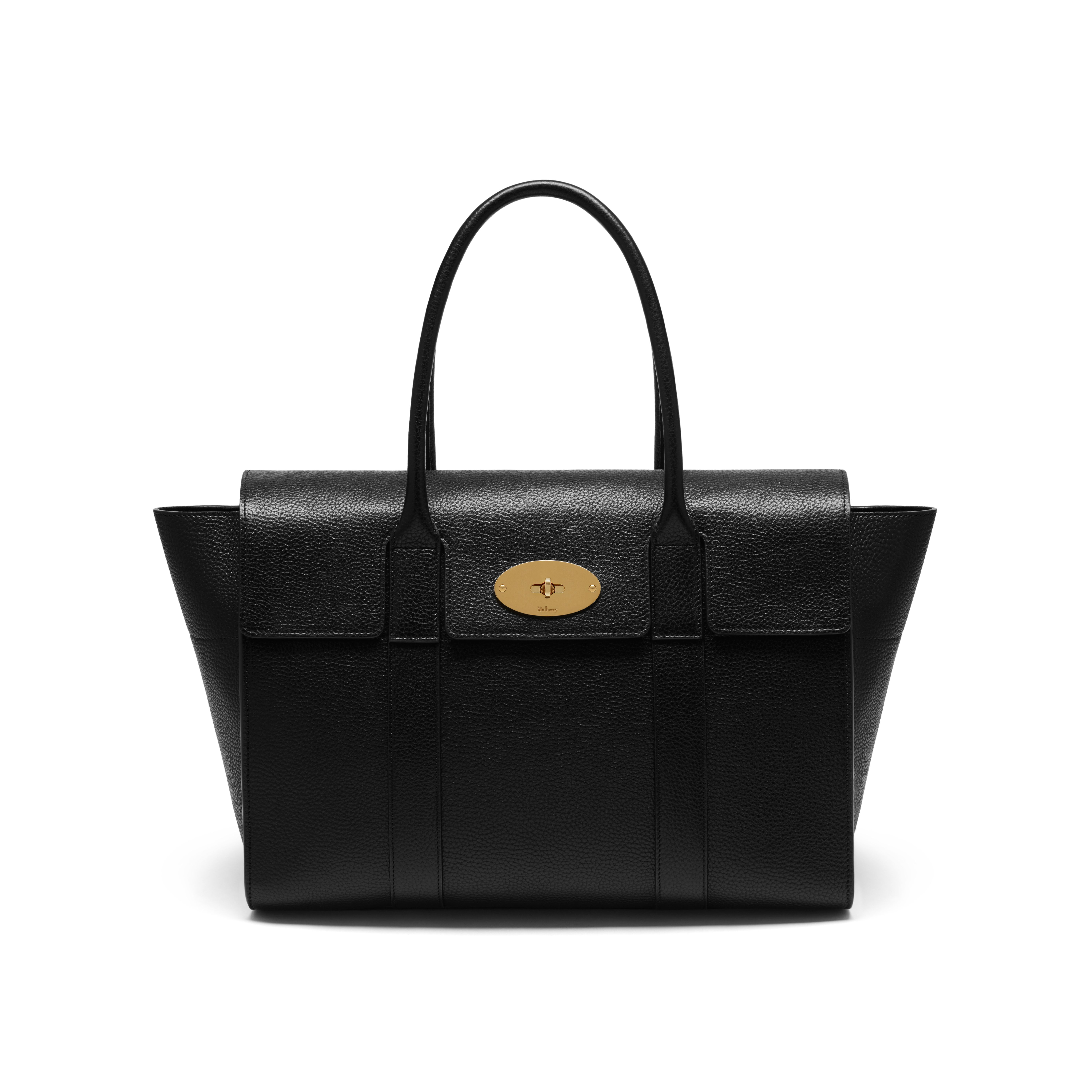 Mulberry new bayswater leather bag in black lyst for The bayswater