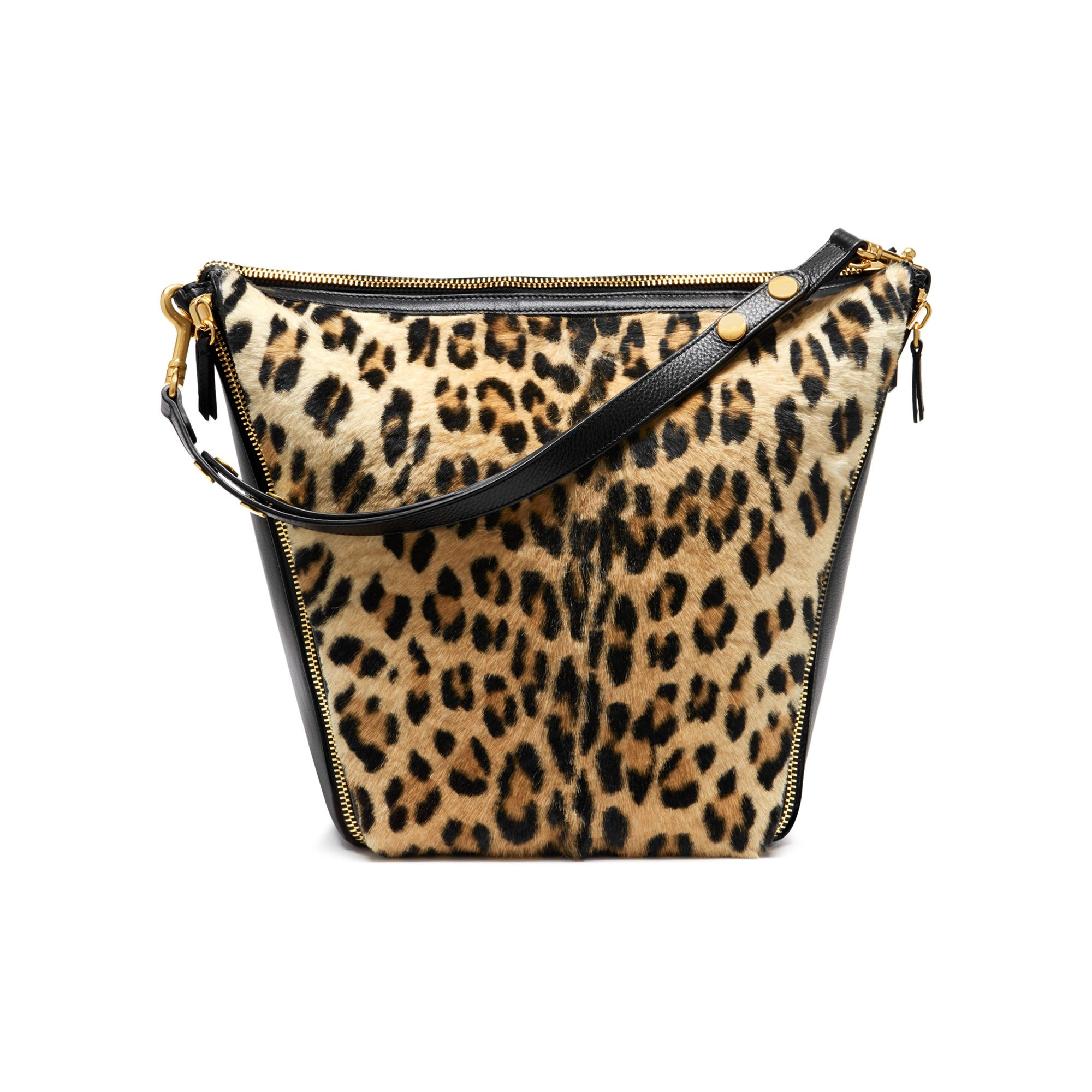40e53ac7c146 Lyst - Mulberry Camden Leopard-Print Calf Hair And Leather Tote Bag ...