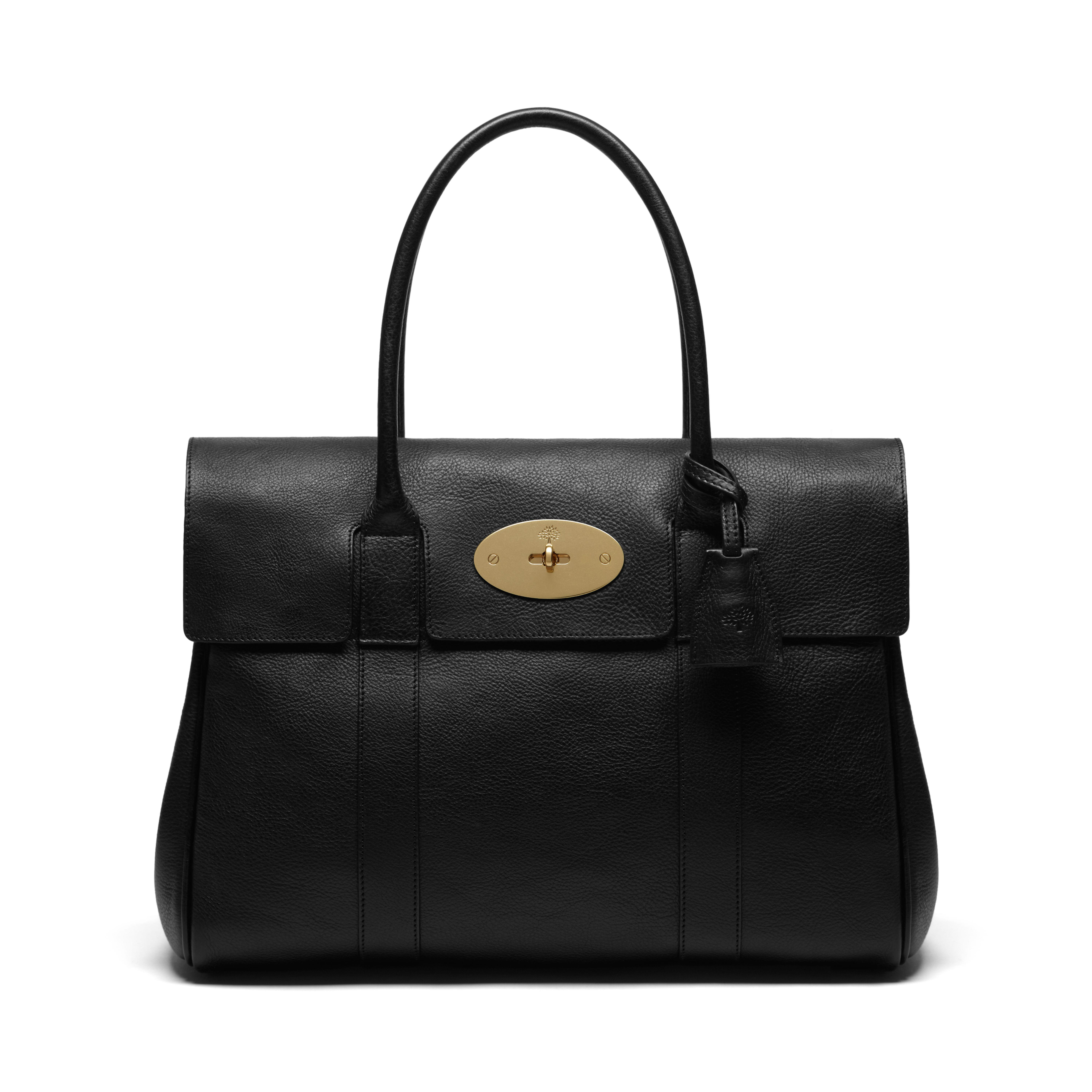 Mulberry Bayswater Leather Bag in Black  01fb7a4a735ef