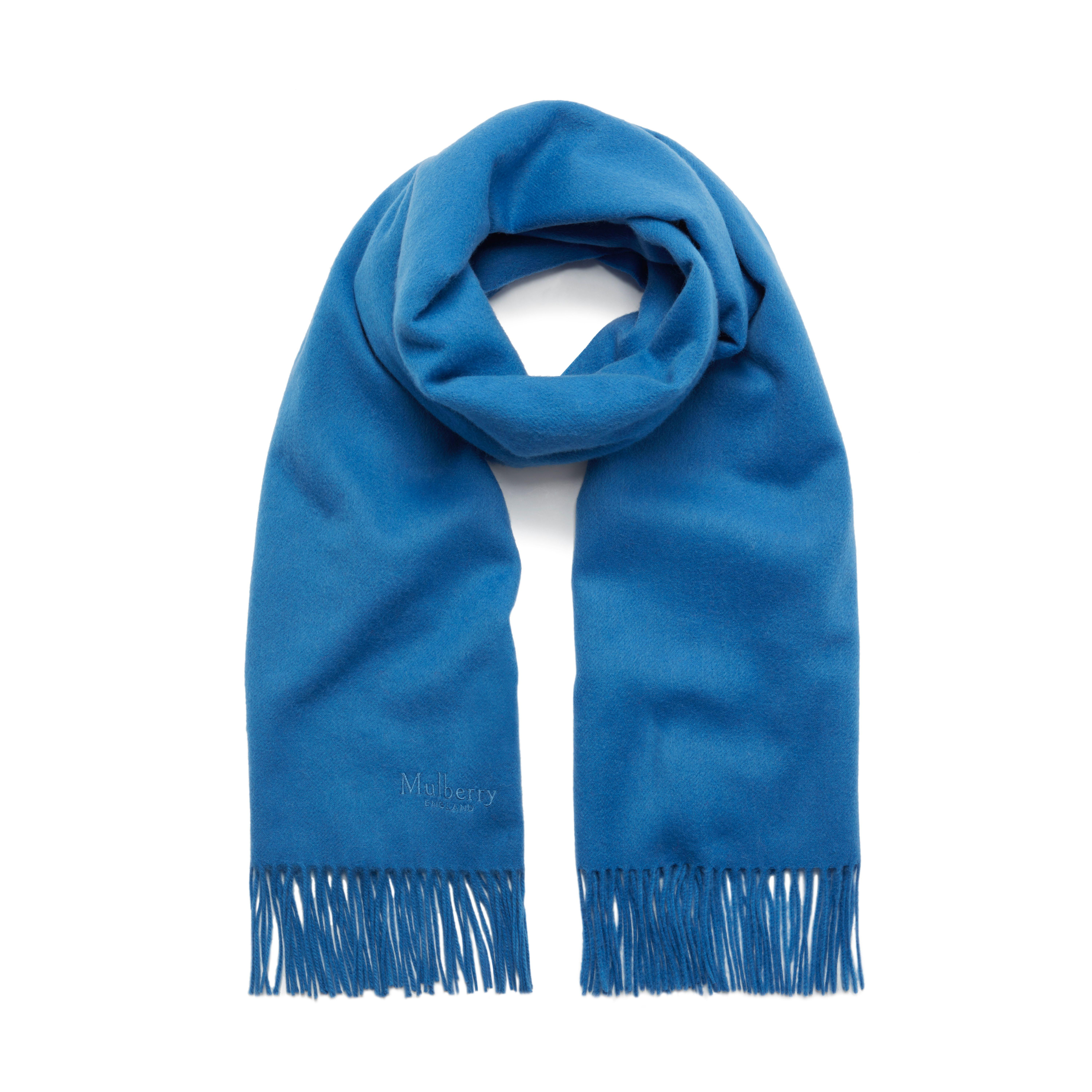 a4db7bc67 Mulberry Lambswool Scarf in Blue - Lyst