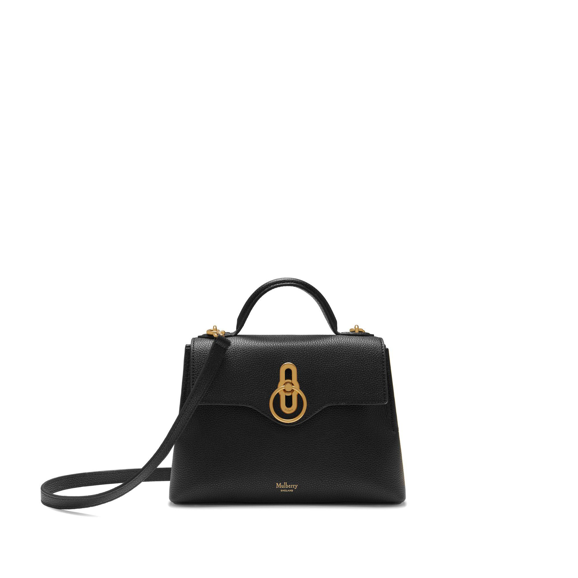 8a0081db66d0 Mulberry - Mini Seaton In Black Small Classic Grain - Lyst. View fullscreen