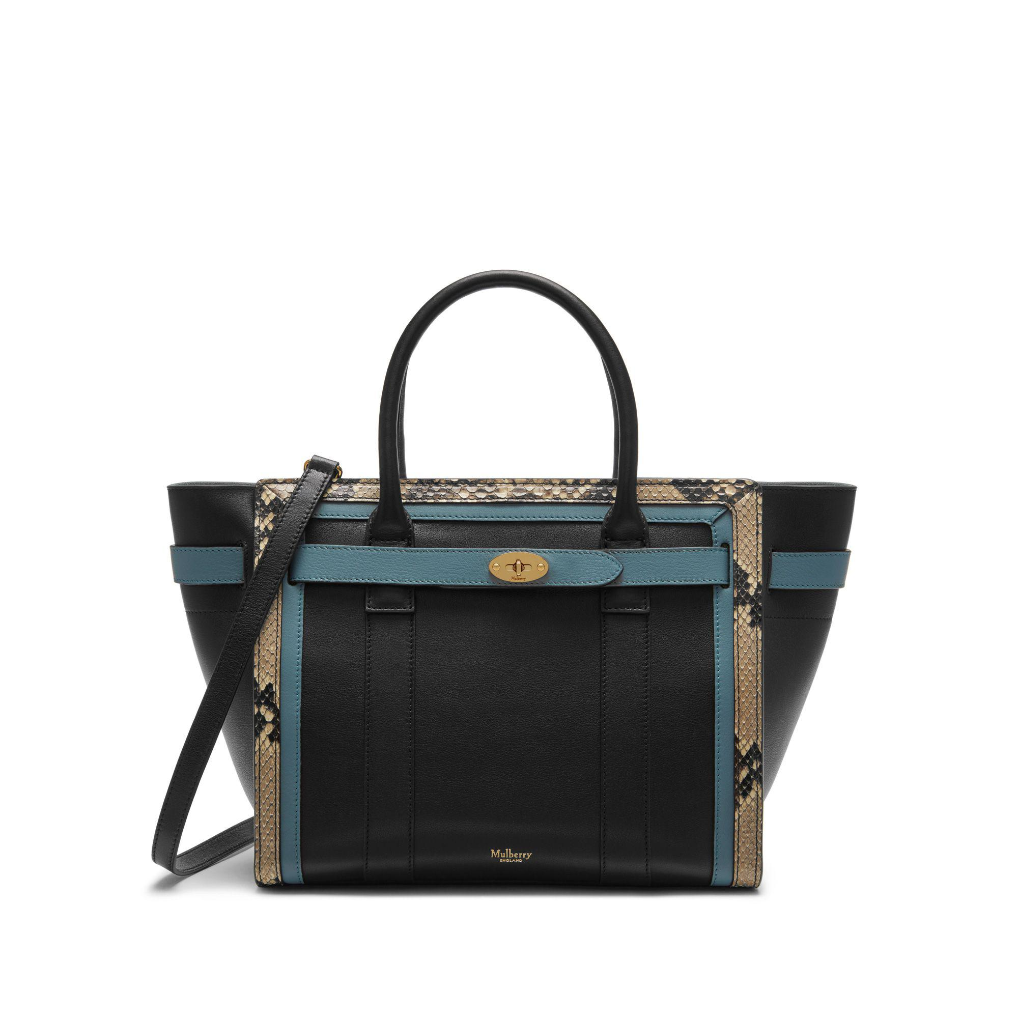 Mulberry Small Zipped Bayswater In Black e9df8ae726879