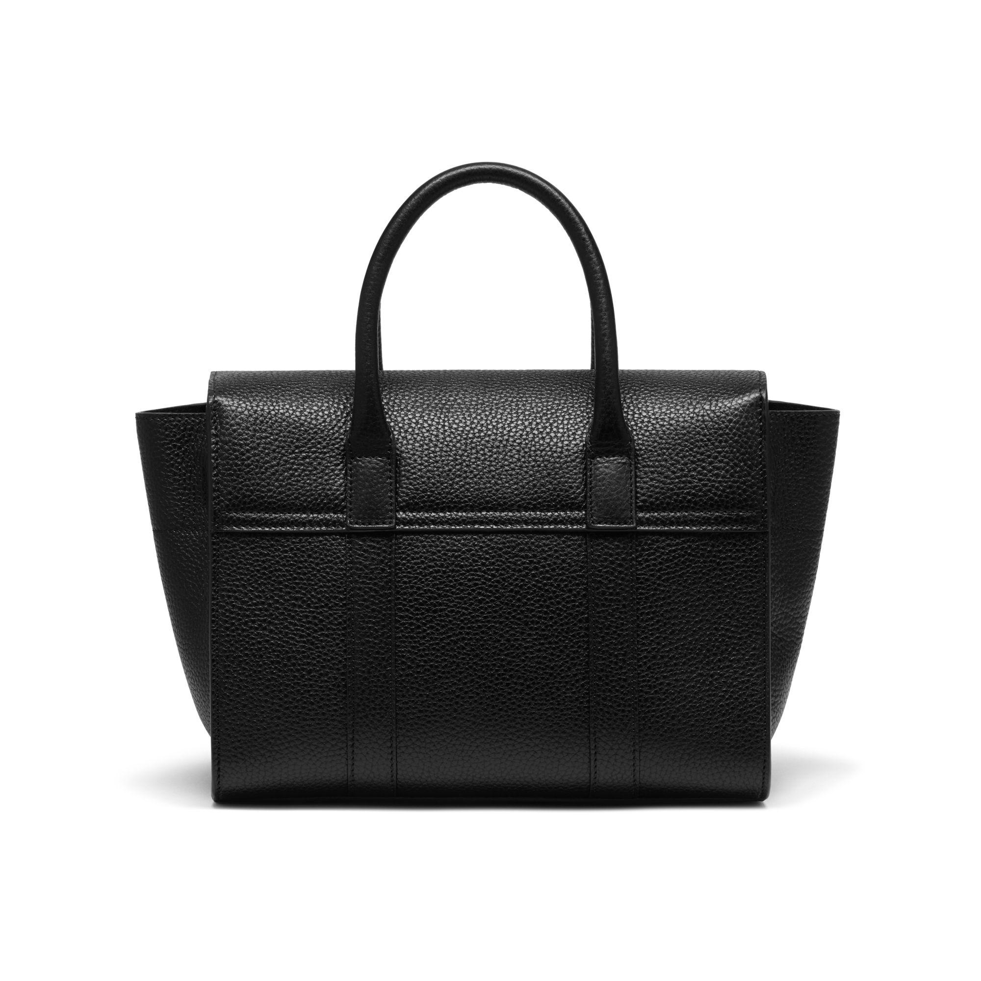 0284cc1d8aa9 ... wholesale mulberry black small bayswater satchel bag lyst. view  fullscreen aa462 f6501