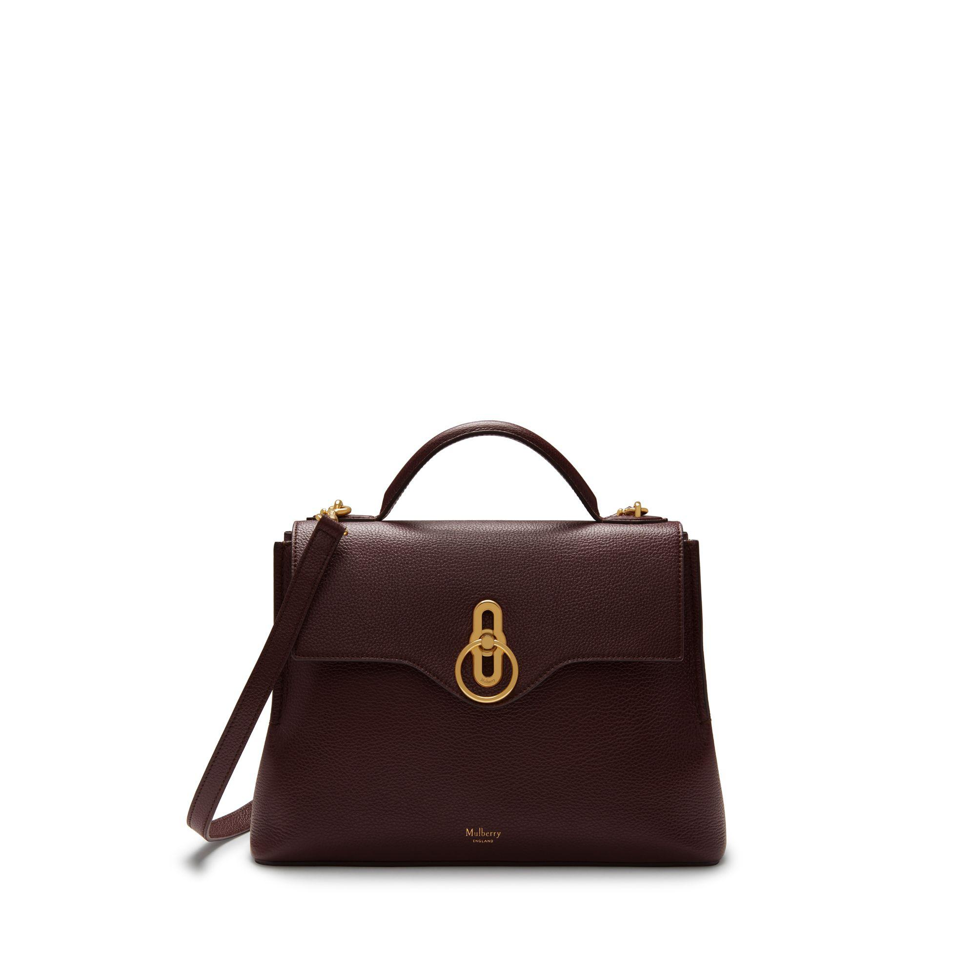 aa3d84a0533 Mulberry Small Seaton In Oxblood Small Classic Grain - Lyst