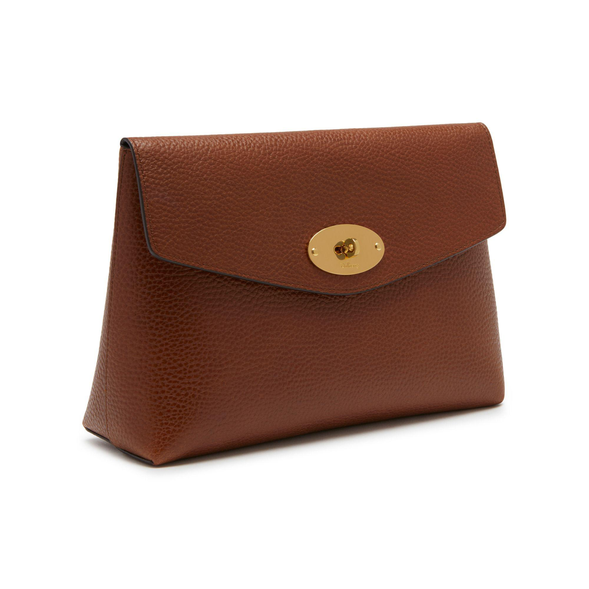 94259a32a1 ... australia mulberry brown large darley cosmetic pouch lyst. view  fullscreen 32606 14a6d