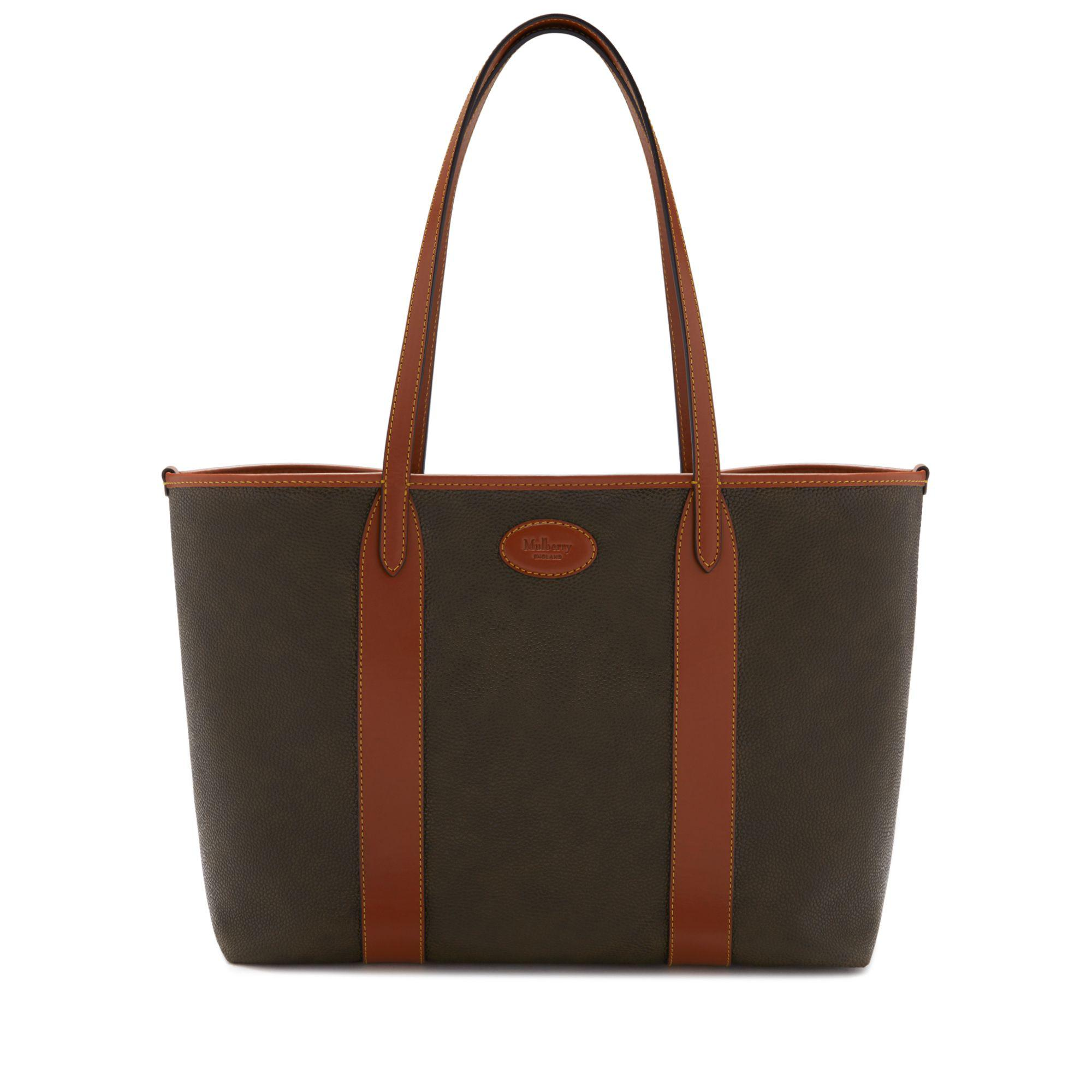 8d2bb90356 Lyst - Mulberry Bayswater Tote In Mole And Cognac Scotchgrain in Brown