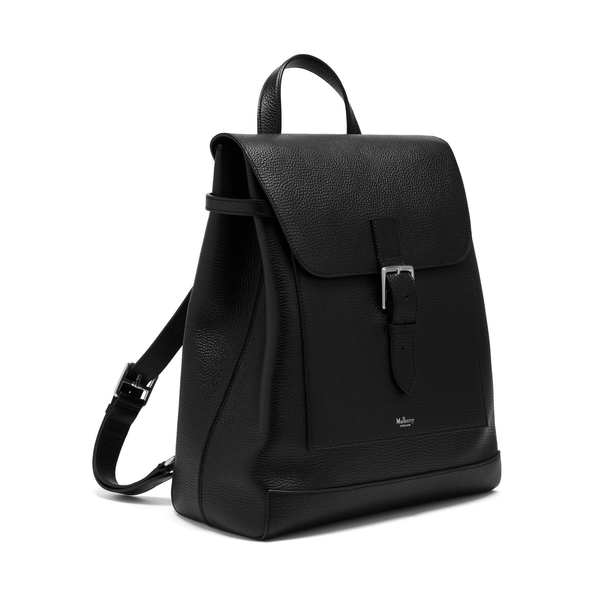 1a8b2010f6 ... where can i buy mulberry black chiltern backpack for men lyst. view  fullscreen bcfd1 0e628