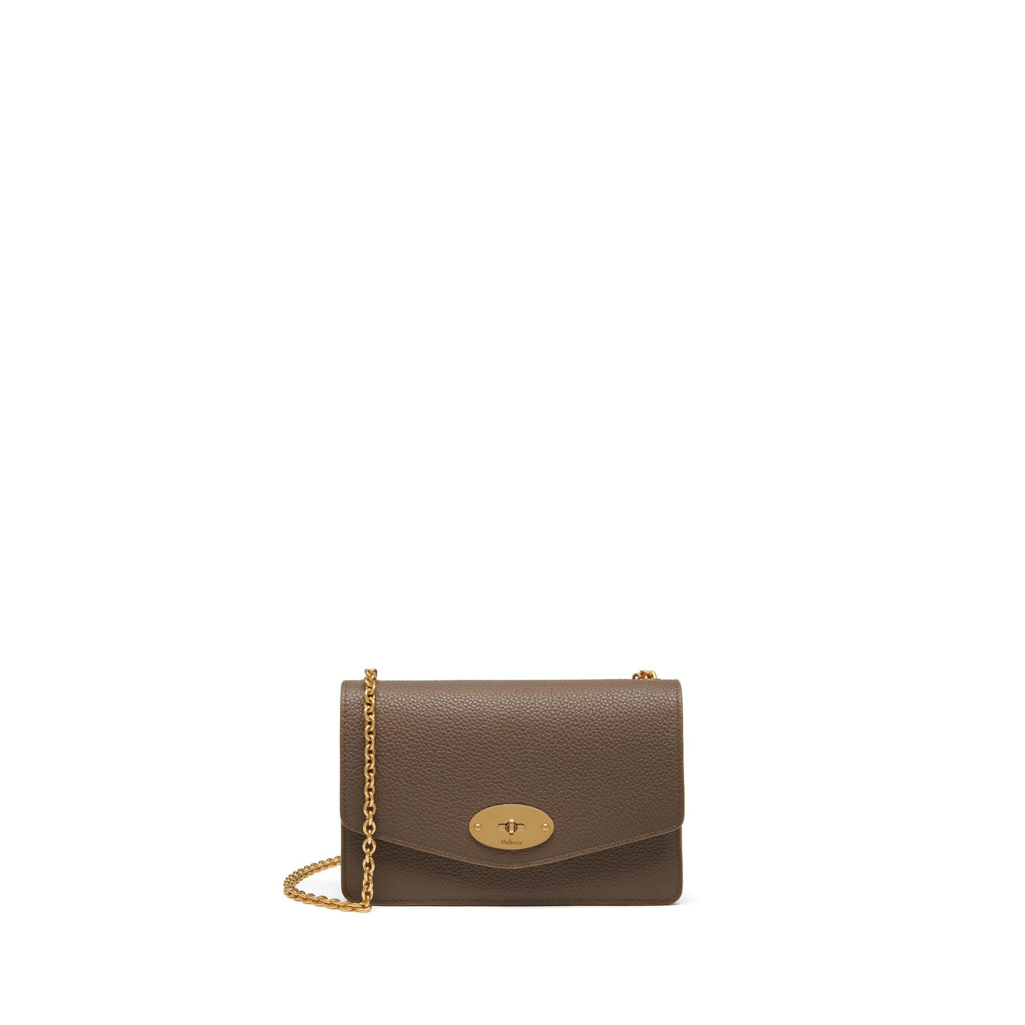 Lyst - Mulberry Small Darley In Clay Small Classic Grain in Brown 370bb080fcf61