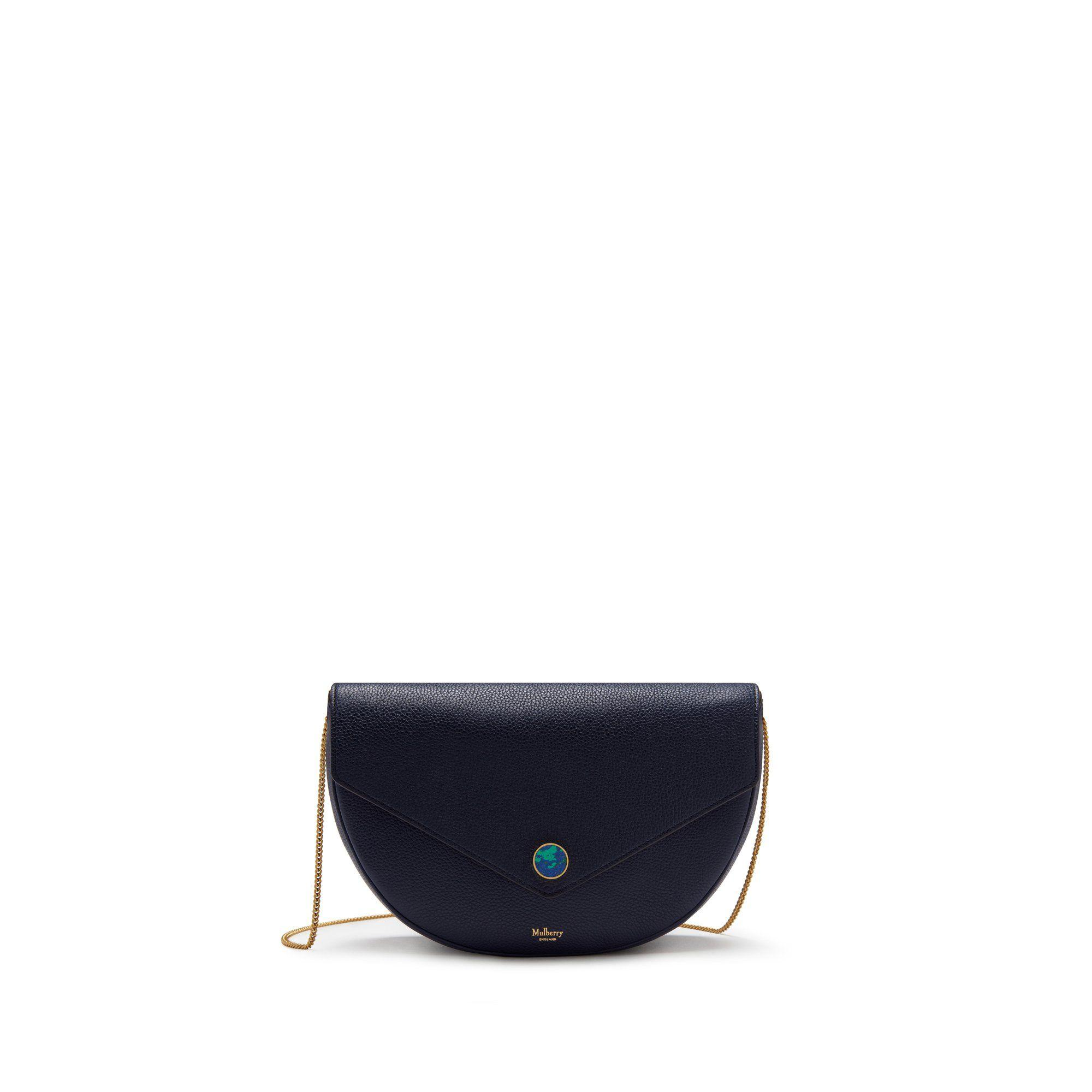 1c6844e72696 Mulberry - Blue Brockwell Clutch In Bright Navy Small Classic Grain - Lyst.  View fullscreen
